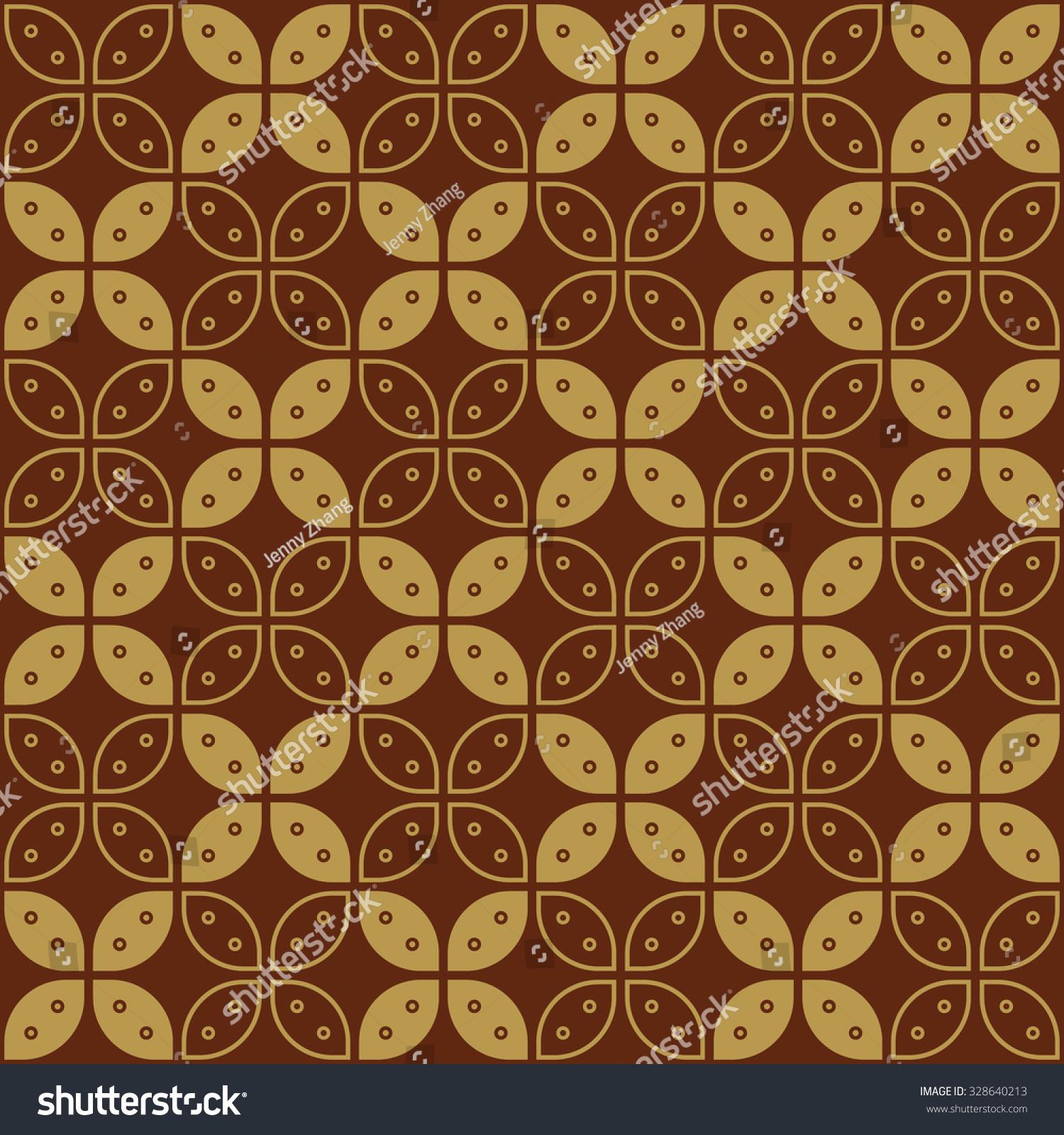 Javanese Batik Seamless Pattern Set G Stock Vector