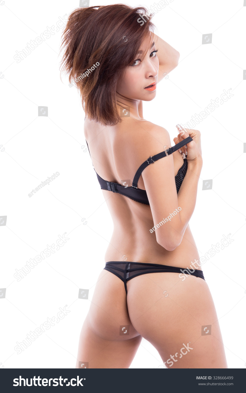 Girls Whering Thong Panties Gif