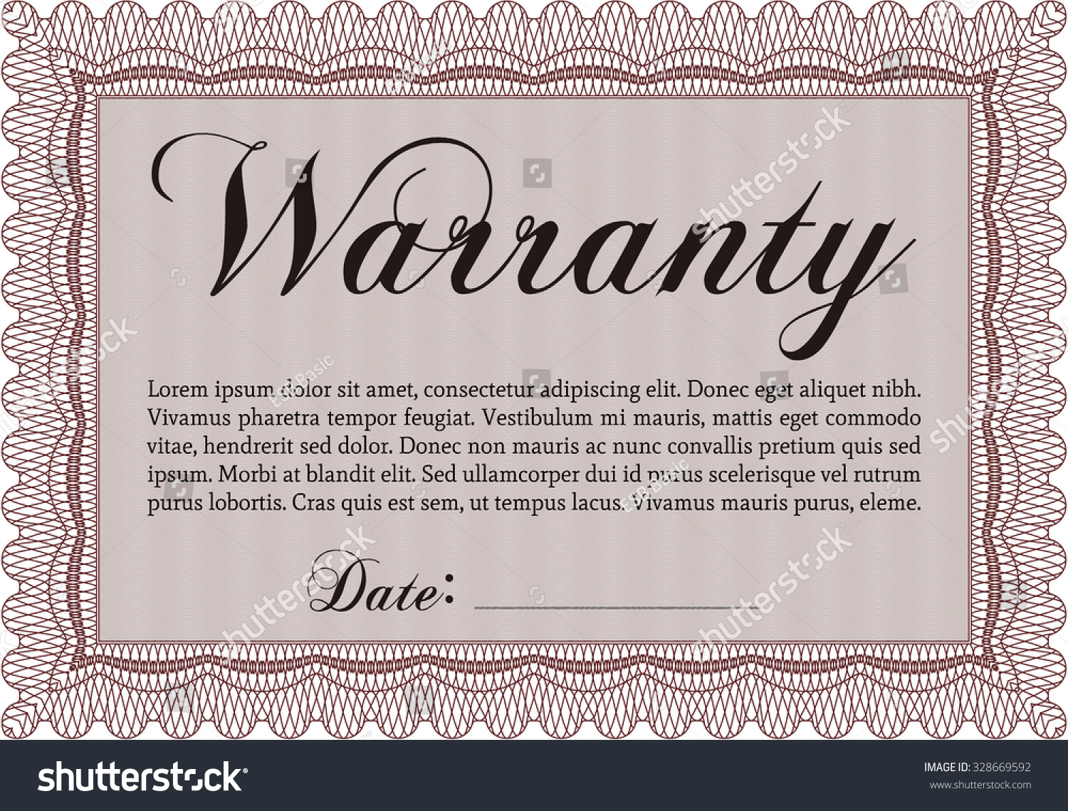 Guarantee certificate template images templates example free warranty certificate template sample text very stock vector warranty certificate template sample text very stock vector yelopaper Image collections