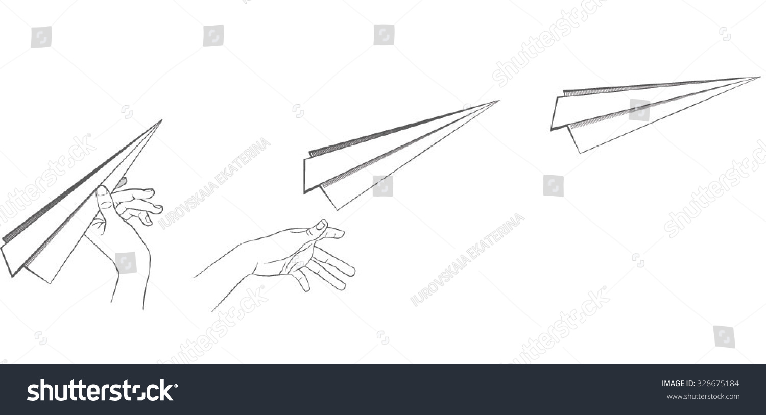 Launching paper airplane storyboard vector vectores en stock launching a paper airplane storyboard vector malvernweather Images