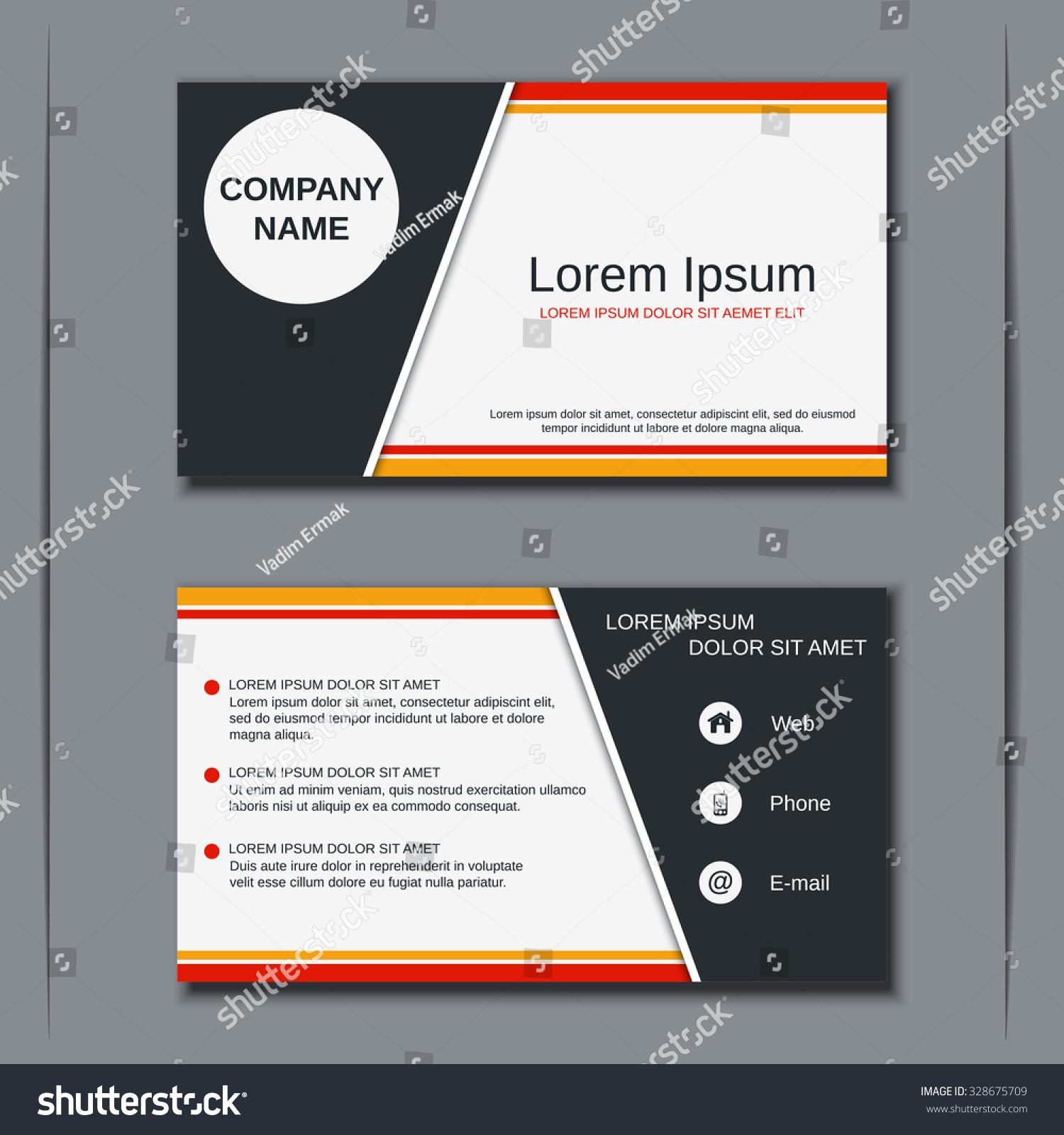 Modern Business Visiting Card Banner Badge Stock Vector 328675709 ...