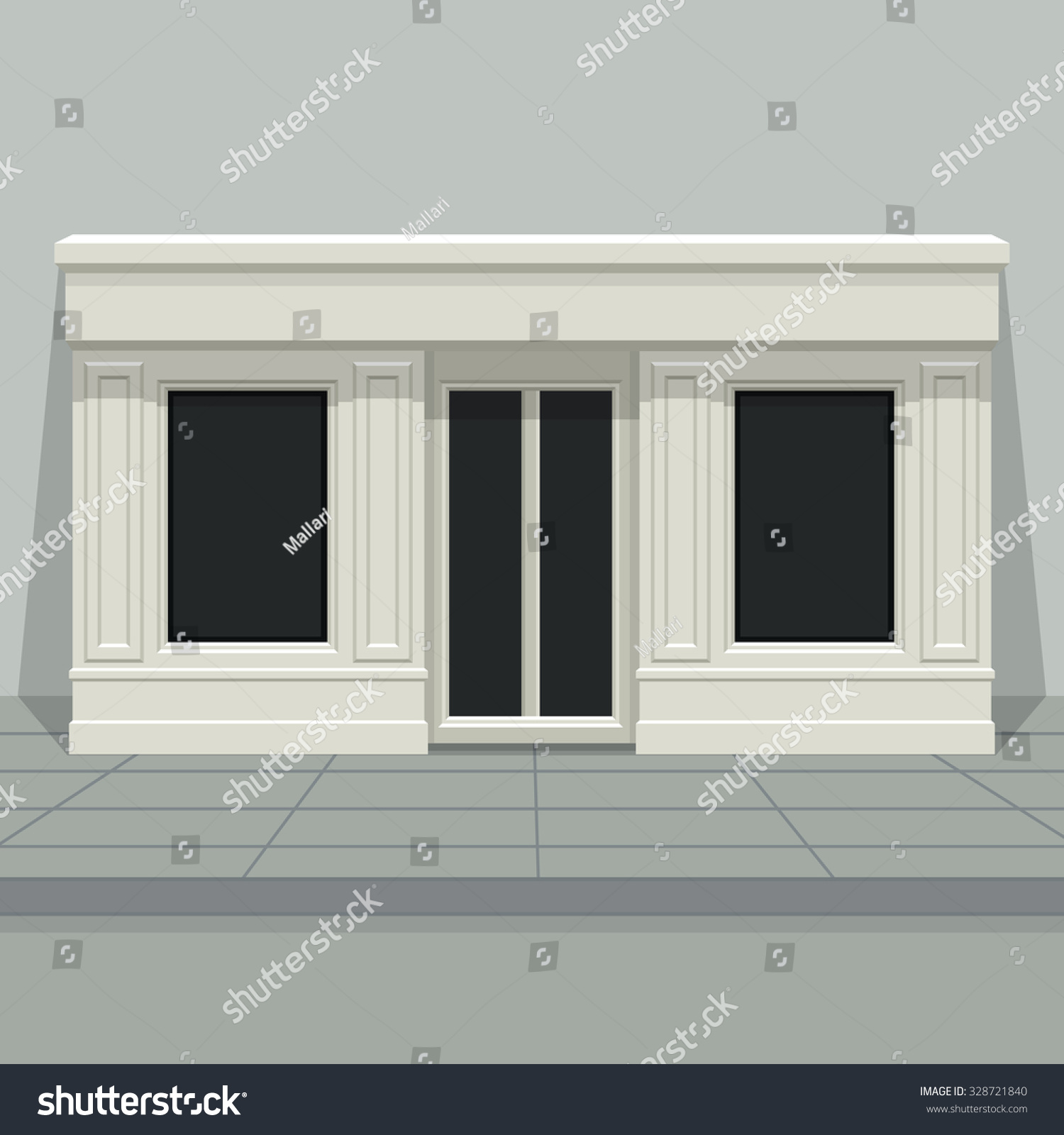 facade shop store boutique glass windows stock vector 328721840 shutterstock. Black Bedroom Furniture Sets. Home Design Ideas