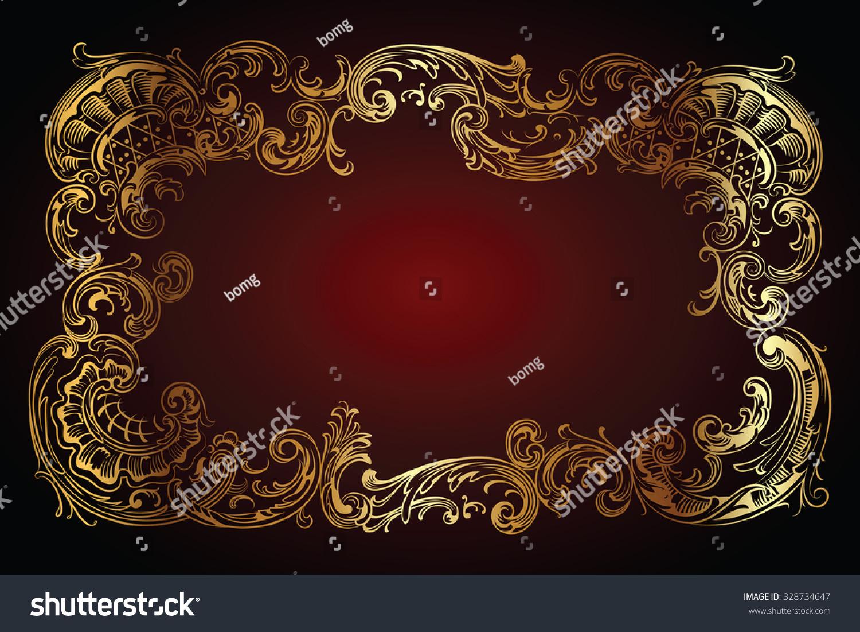 Vector Luxury Frame Border Rococo Style Stock Vector (Royalty Free ...