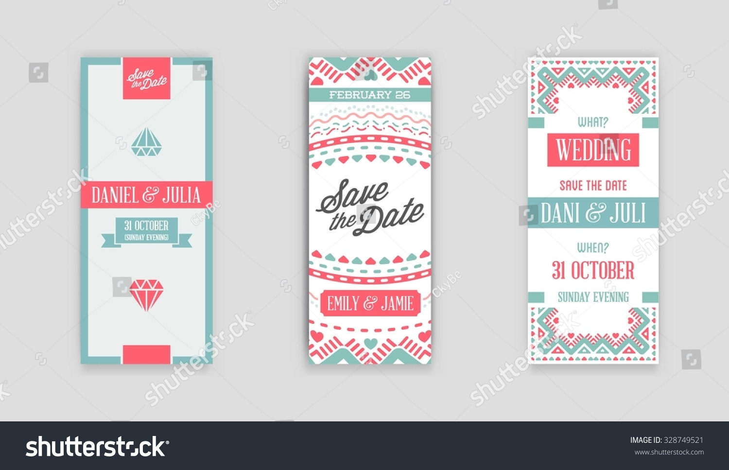Set Vector Design Awesome Wedding Invitation Stock Vector 328749521 ...