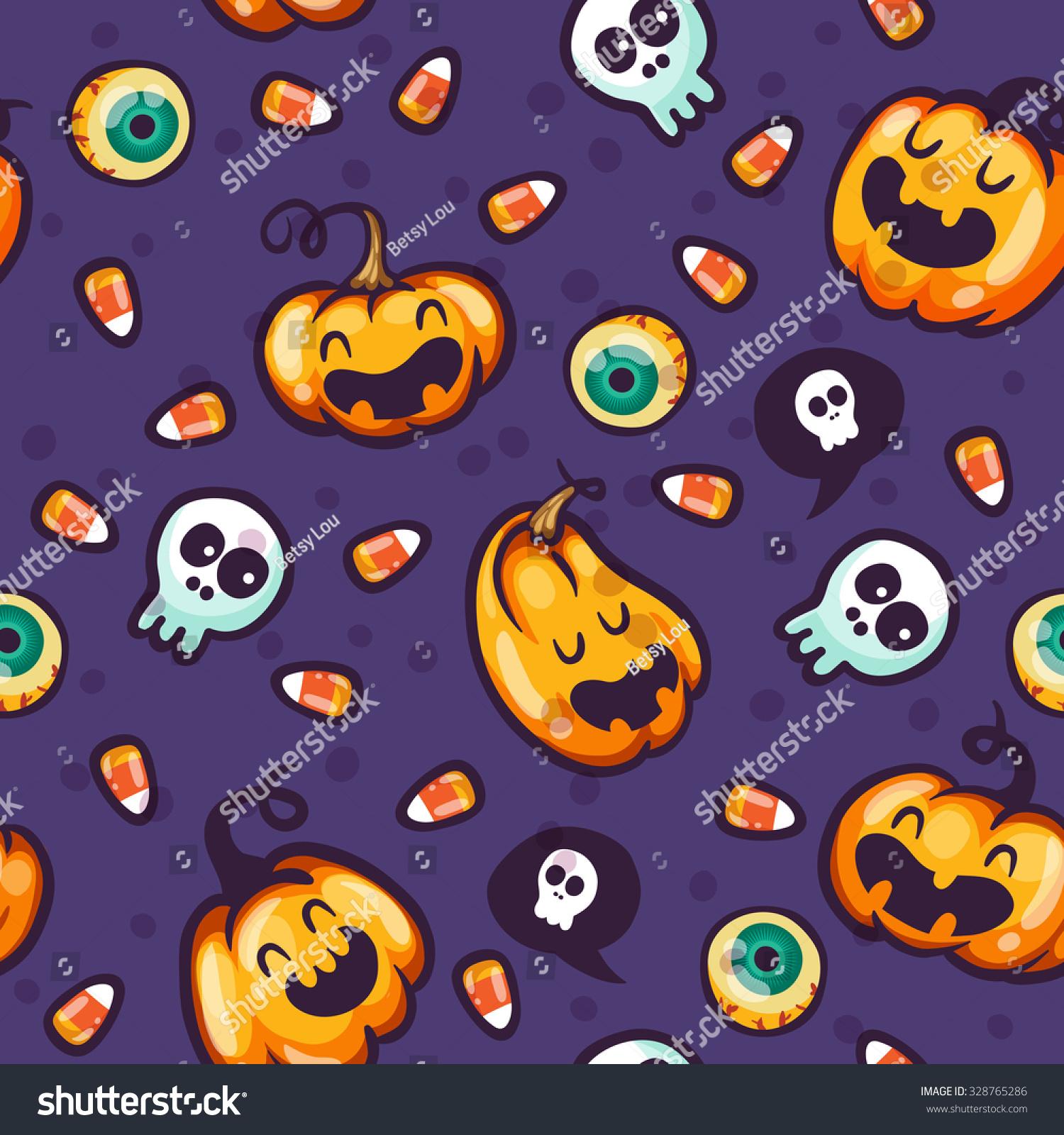 Autumn Holidays Halloween Pumpkin Vector Pattern Stock Vector