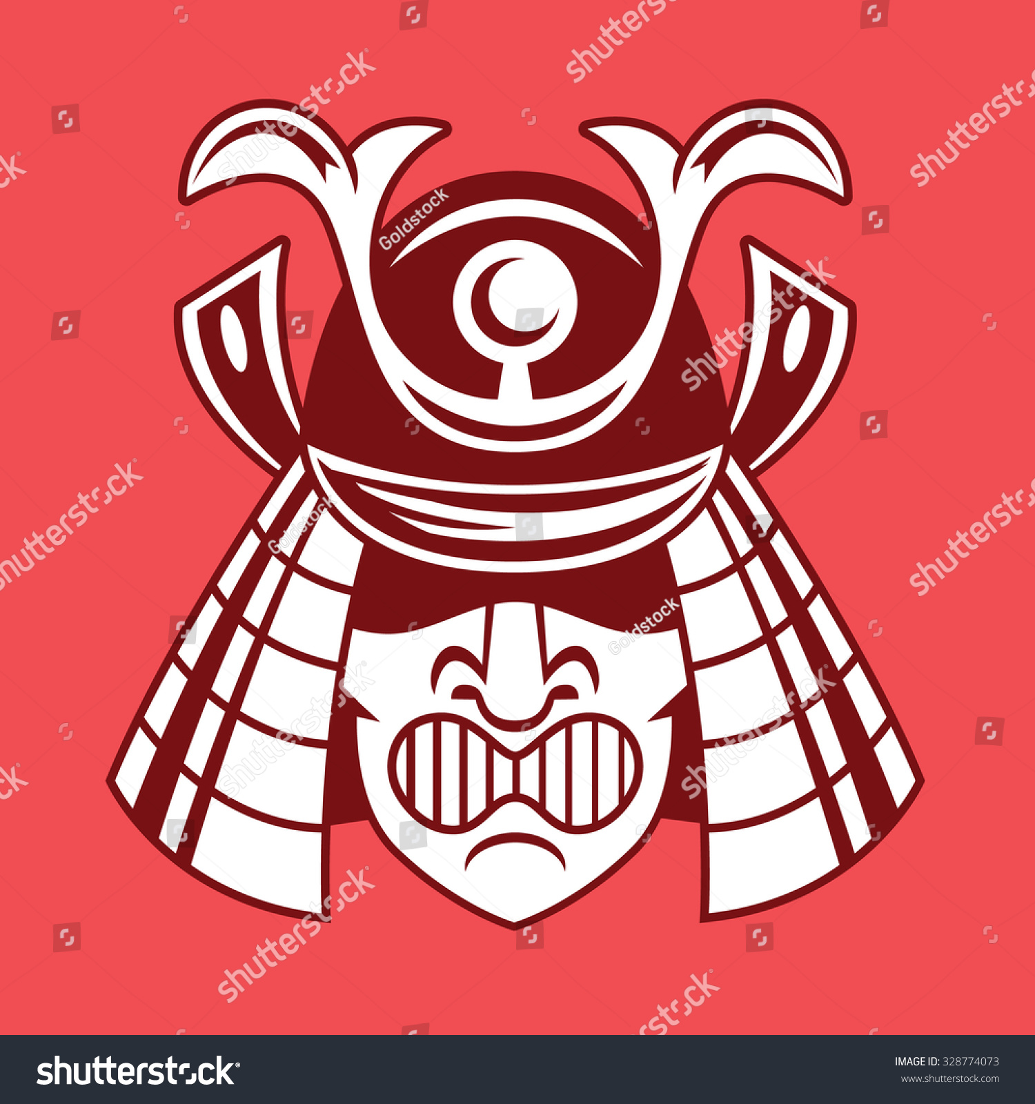 Japanese Samurai Asian Symbol Vector Icon Stock Vector Royalty Free
