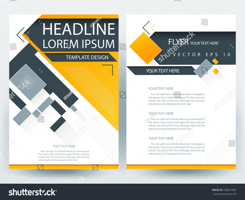 Abstract vector modern flyers brochure annual stock vector 328817081 shutterstock for Modern flyers template