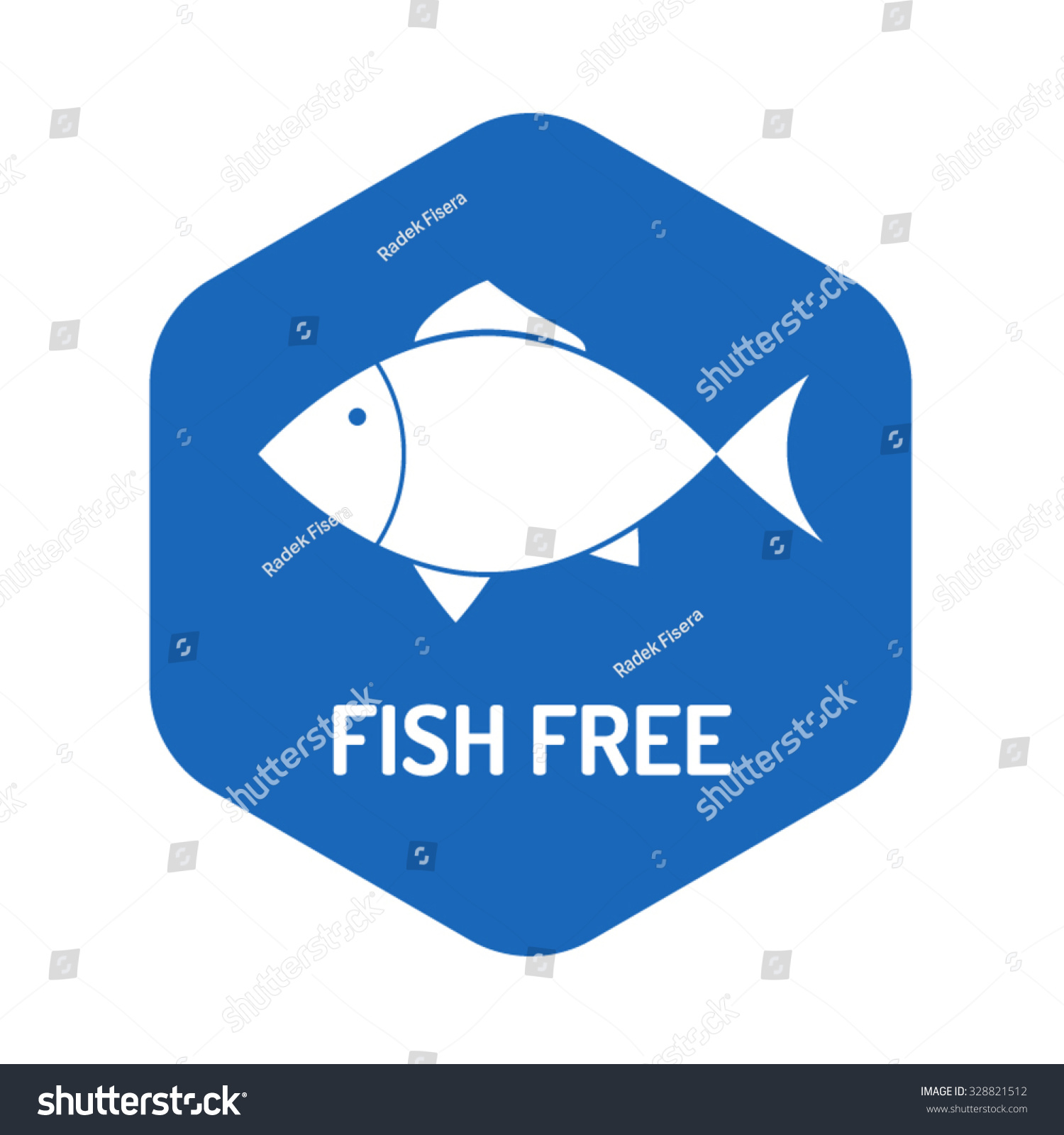 Fish Free Sign Icon No Fish Stock Photo Photo Vector Illustration