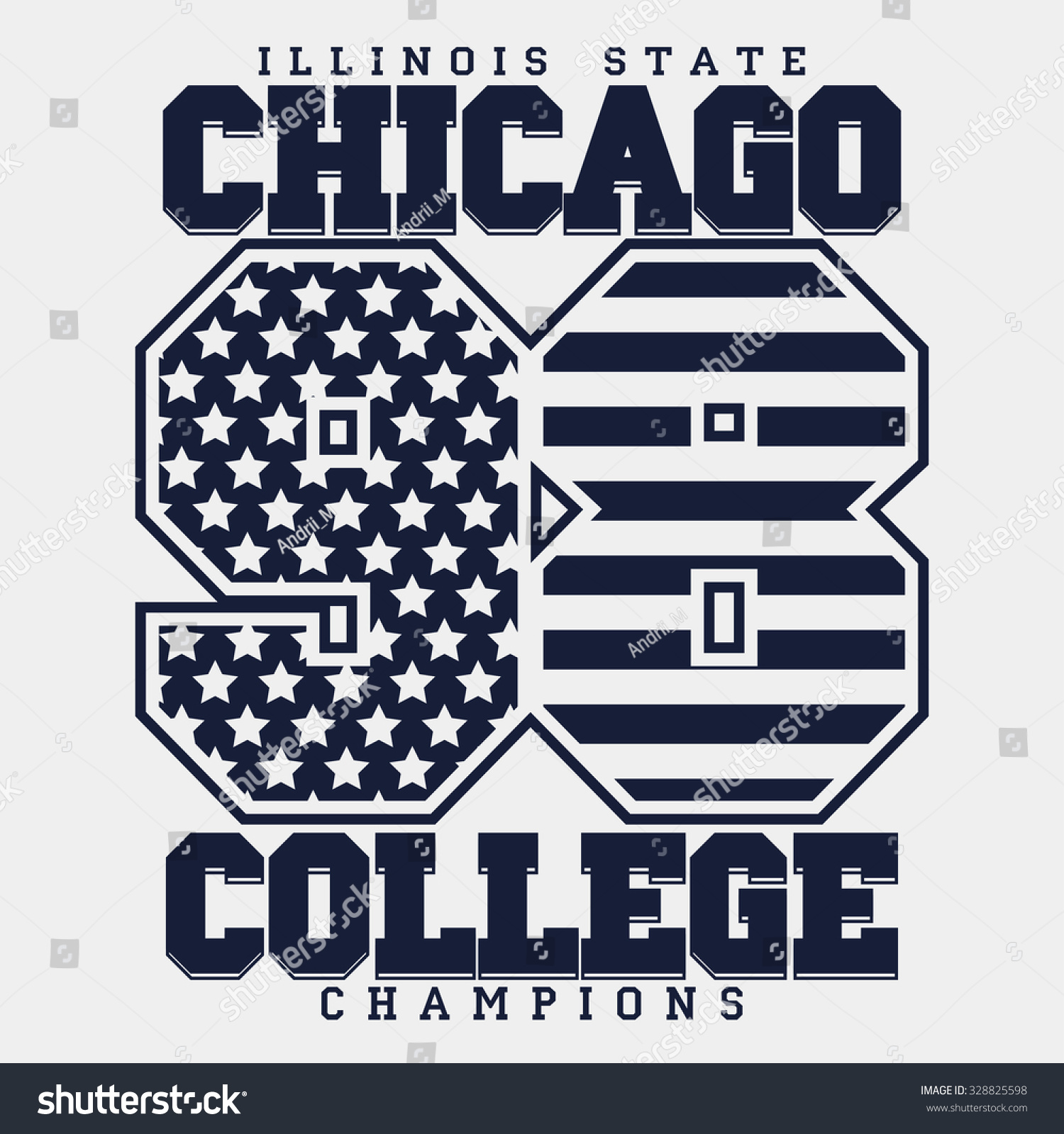 8e9e53c6 Chicago Typography Graphics, T-shirt Printing Design, Illinois original  wear, Vintage Print