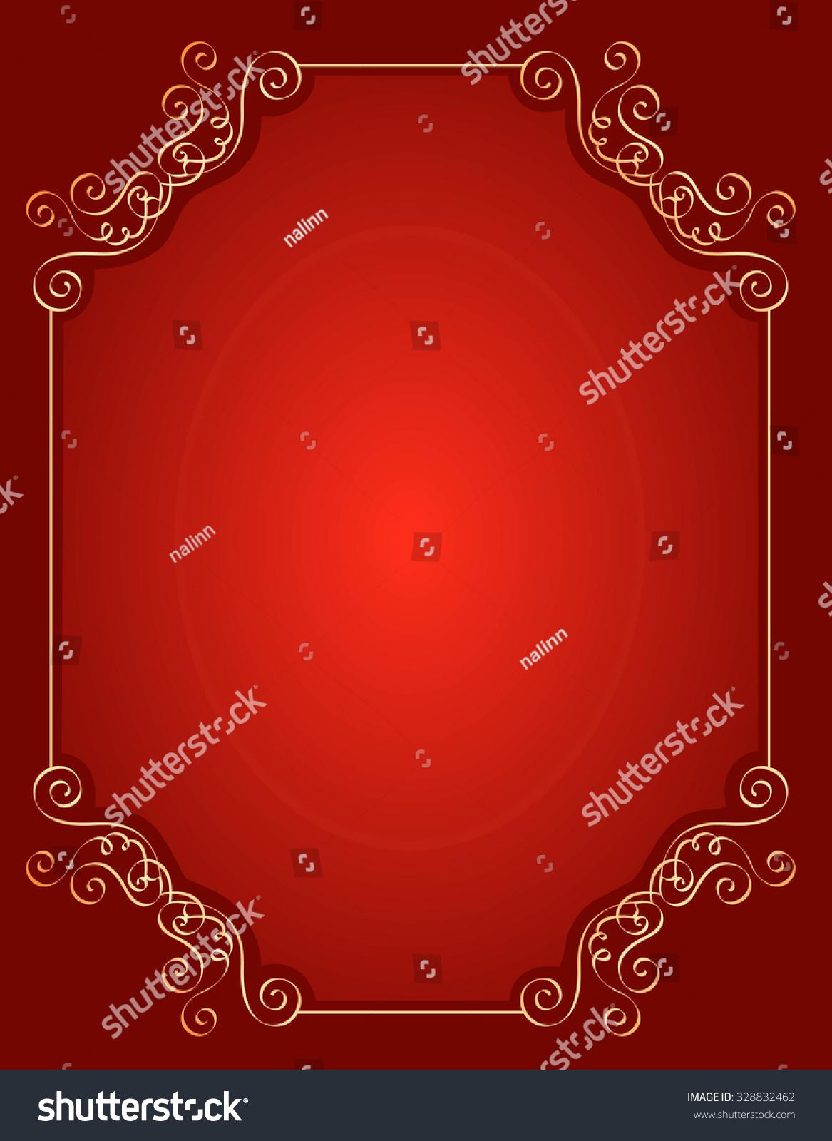 Elegant Gold Red Maroon Color Blank Stock Illustration 328832462