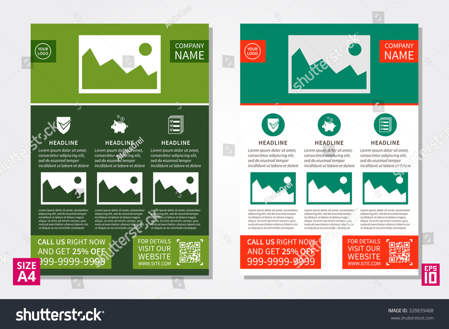 Poster design site - Vector Flyer Poster Leaflet Annual Report Design Template With Sample Text Leaflet