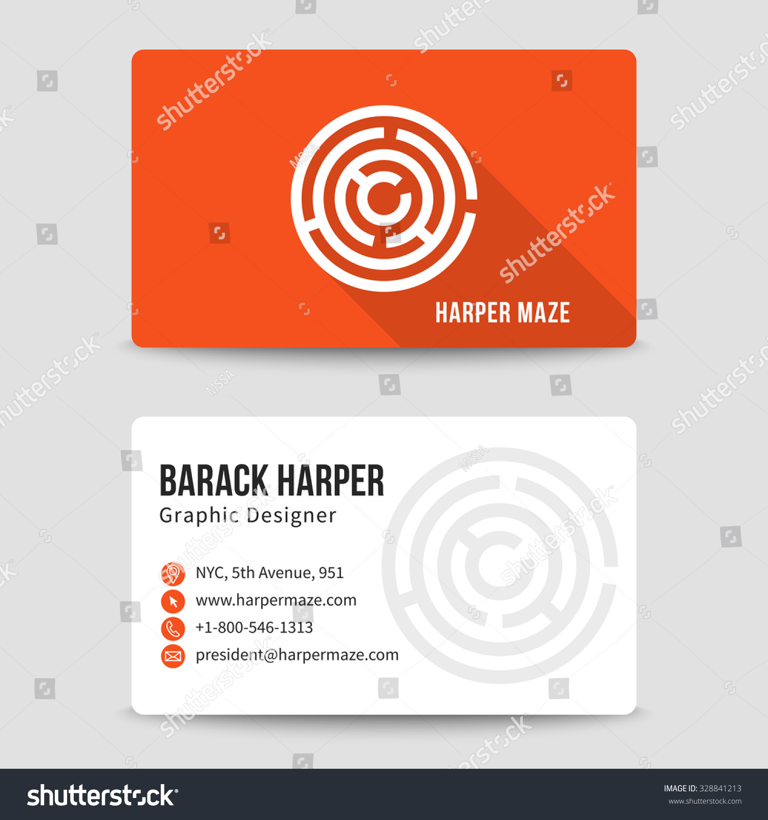 Modern business card vector template maze stock vector royalty free modern business card vector template with maze logo address and phone number website and fbccfo Gallery