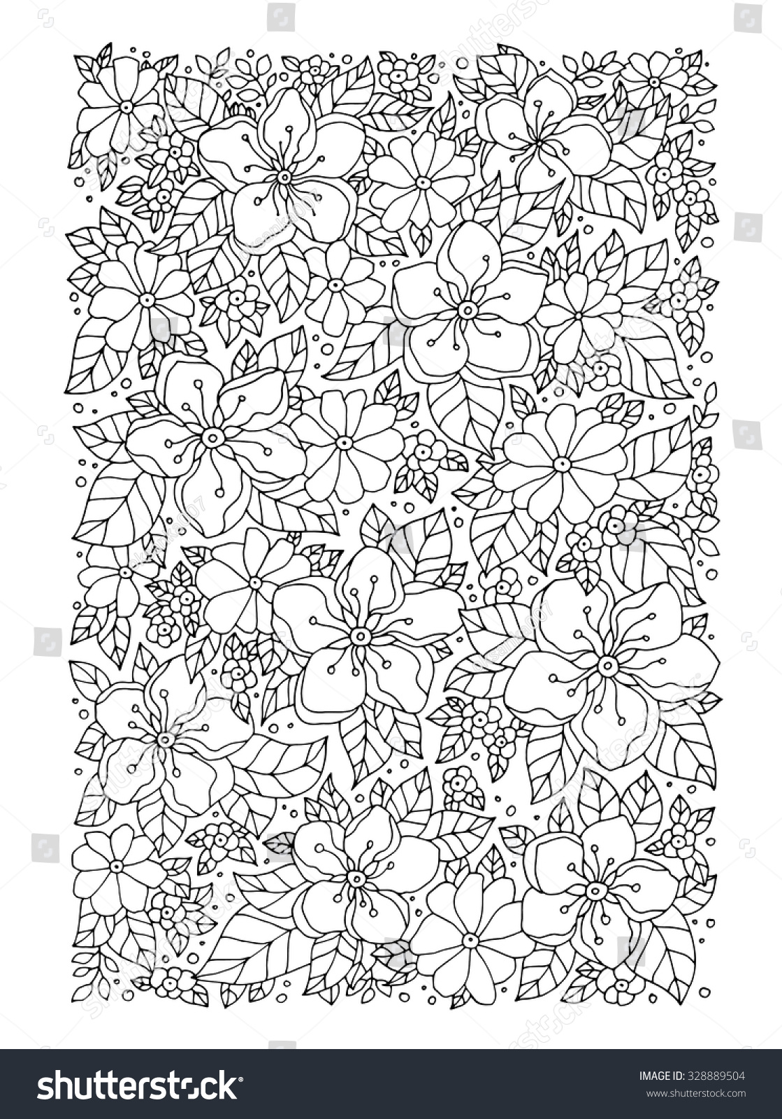 Coloring book page apple tree - Forest Apple Tree Flowers Vector Artwork Love Bohemia Concept For Wedding Invitation Card