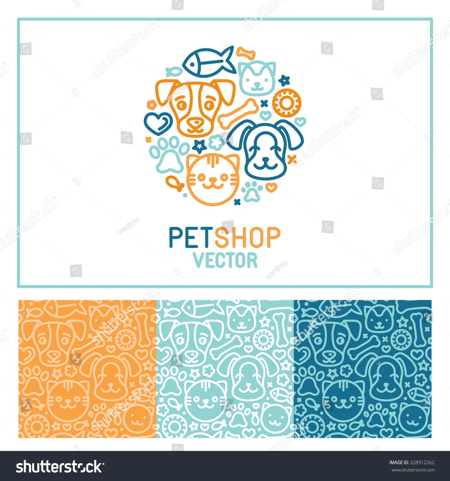 vector logo design template pet shops stock vector 328912262