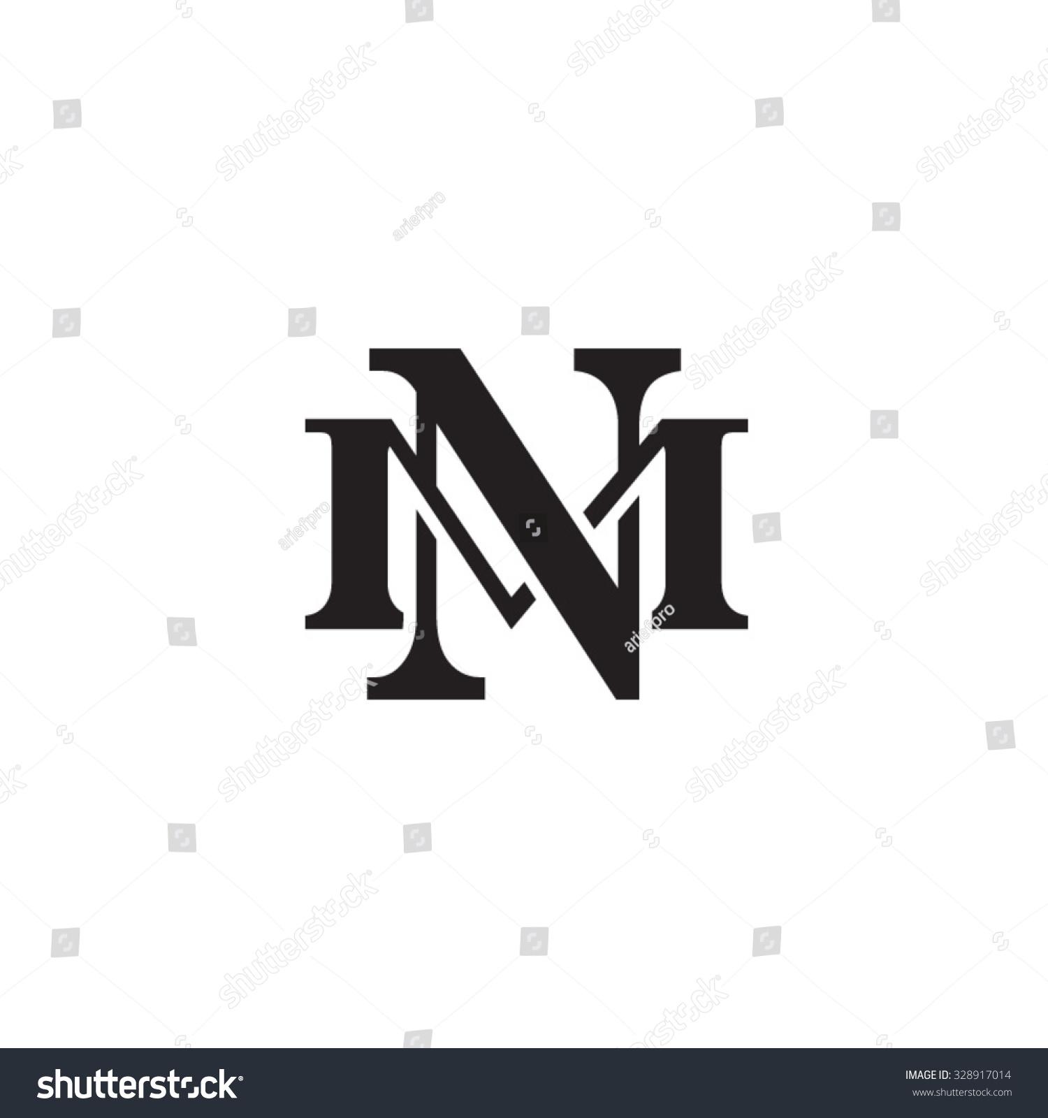 letter m n monogram logo stock vector 328917014 shutterstock. Black Bedroom Furniture Sets. Home Design Ideas