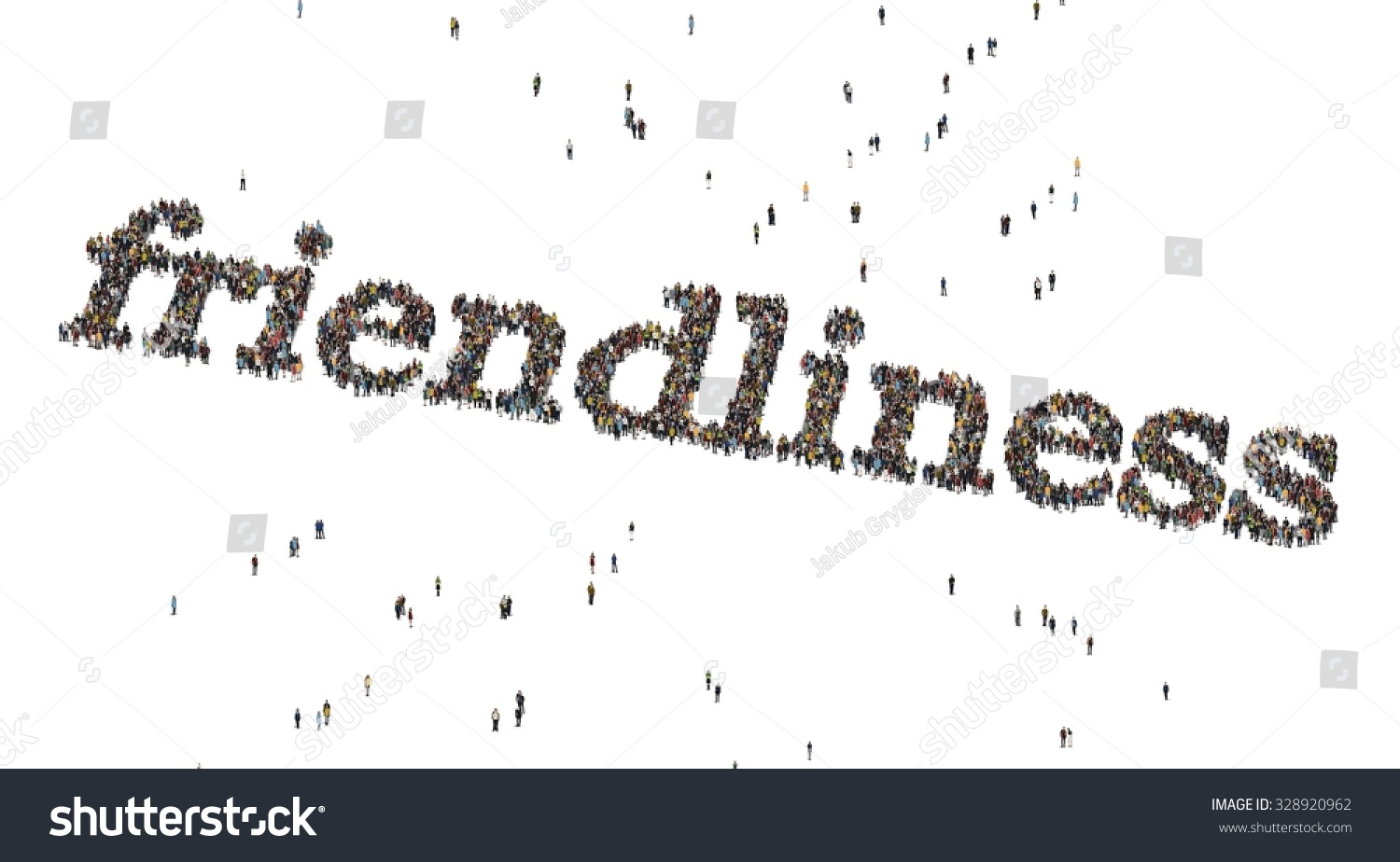 Friendliness Word Crowd Above Stock Illustration 328920962 ...