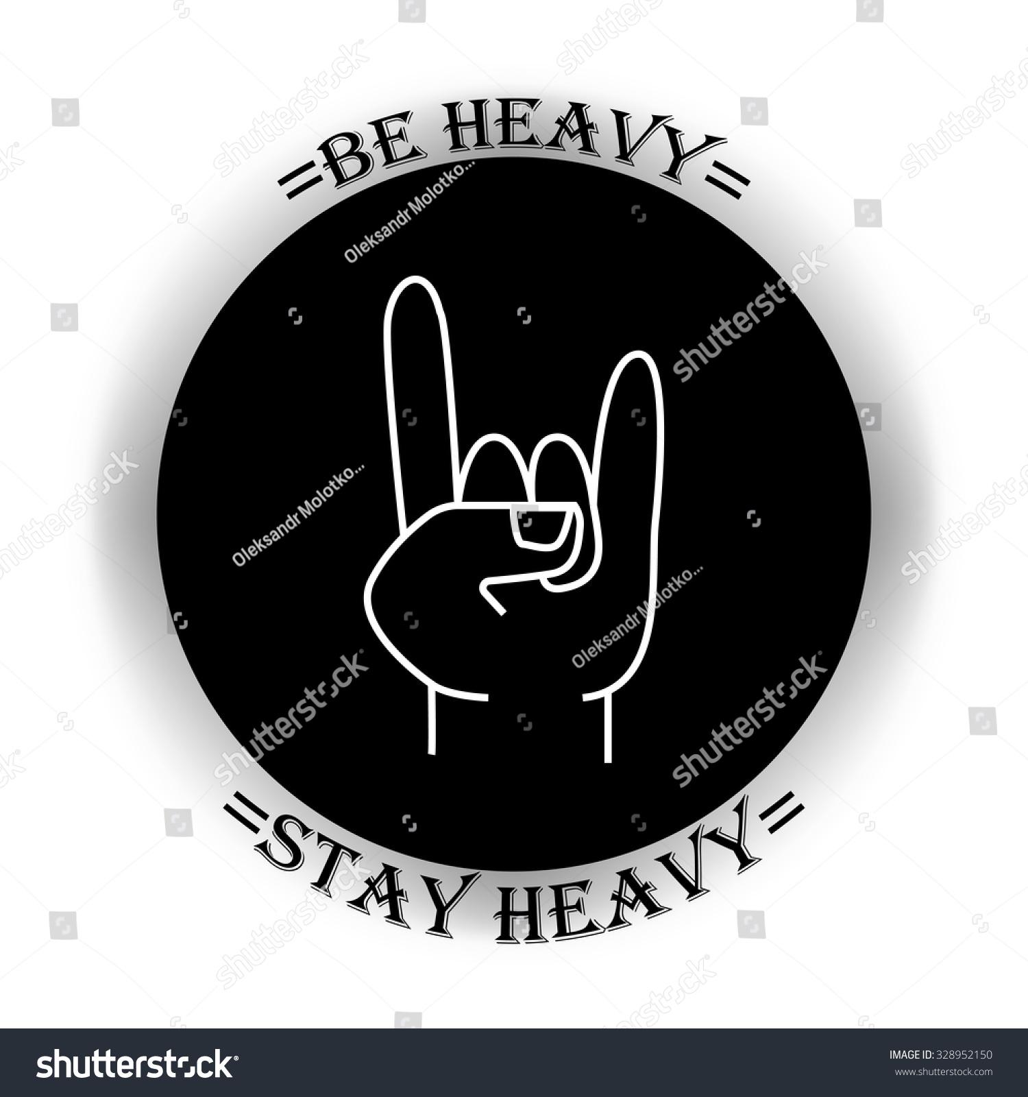 Vector Heavy Metal Symbol Slogan Stock Vector Royalty Free