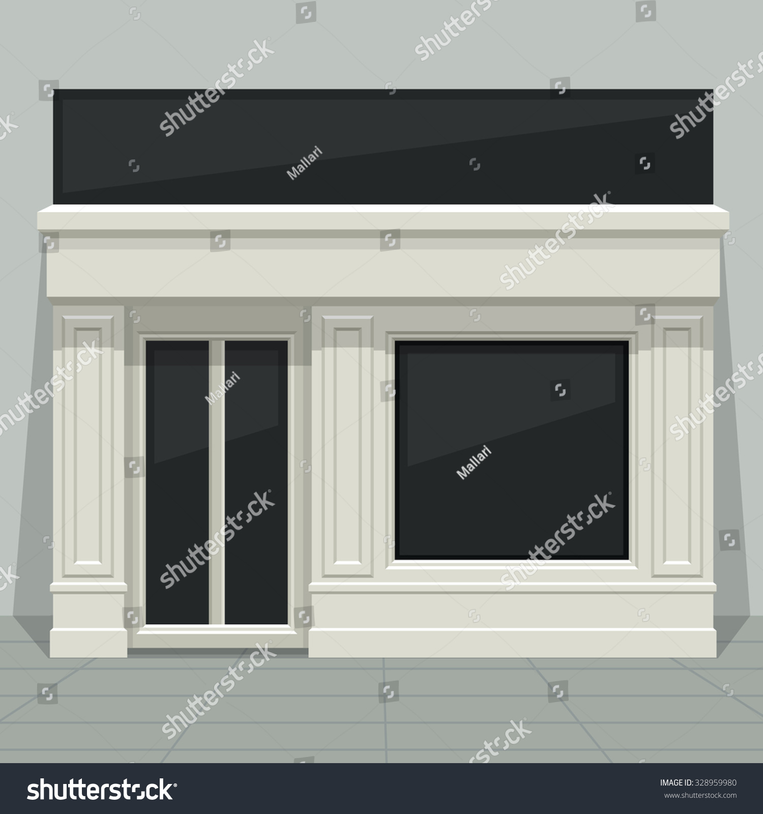 Home glass windows - Facade Shop Store Boutique With Glass Windows And Doors Front View Front