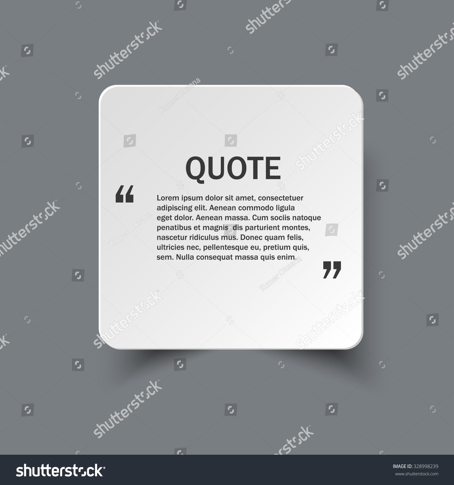 quote form on square paper banner shadow vector design save to a lightbox