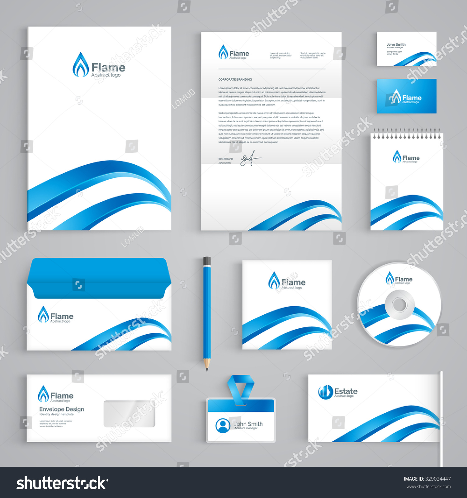 Corporate Identity Branding Template Abstract Vector Stock Vector ...