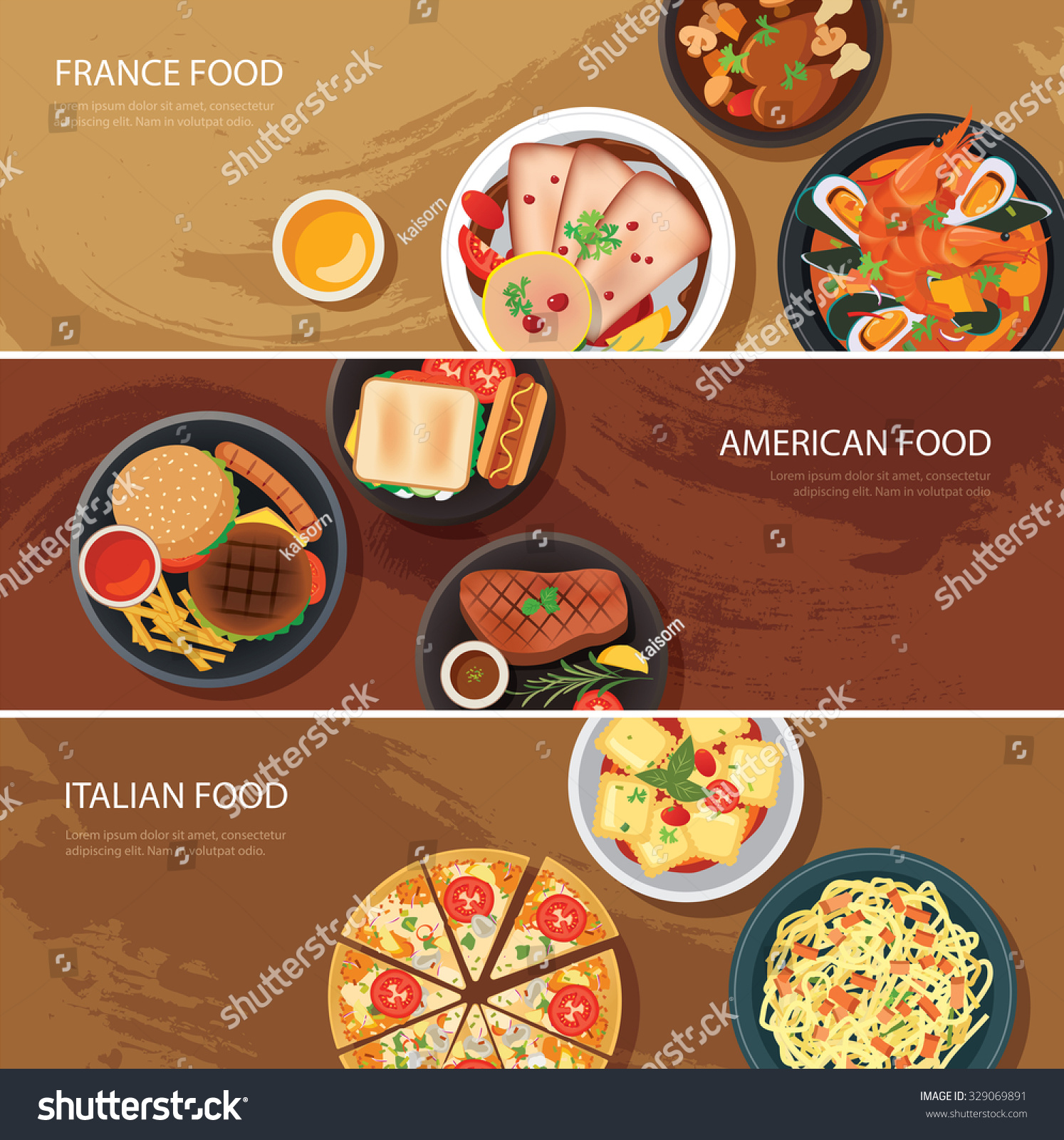 Image gallery international cuisine banner for American italian cuisine