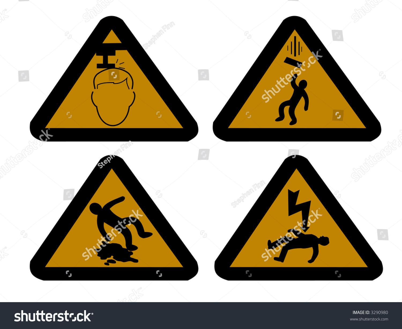 Construction Hazard Signs Mind Your Head Stock Illustration 3290980 ...