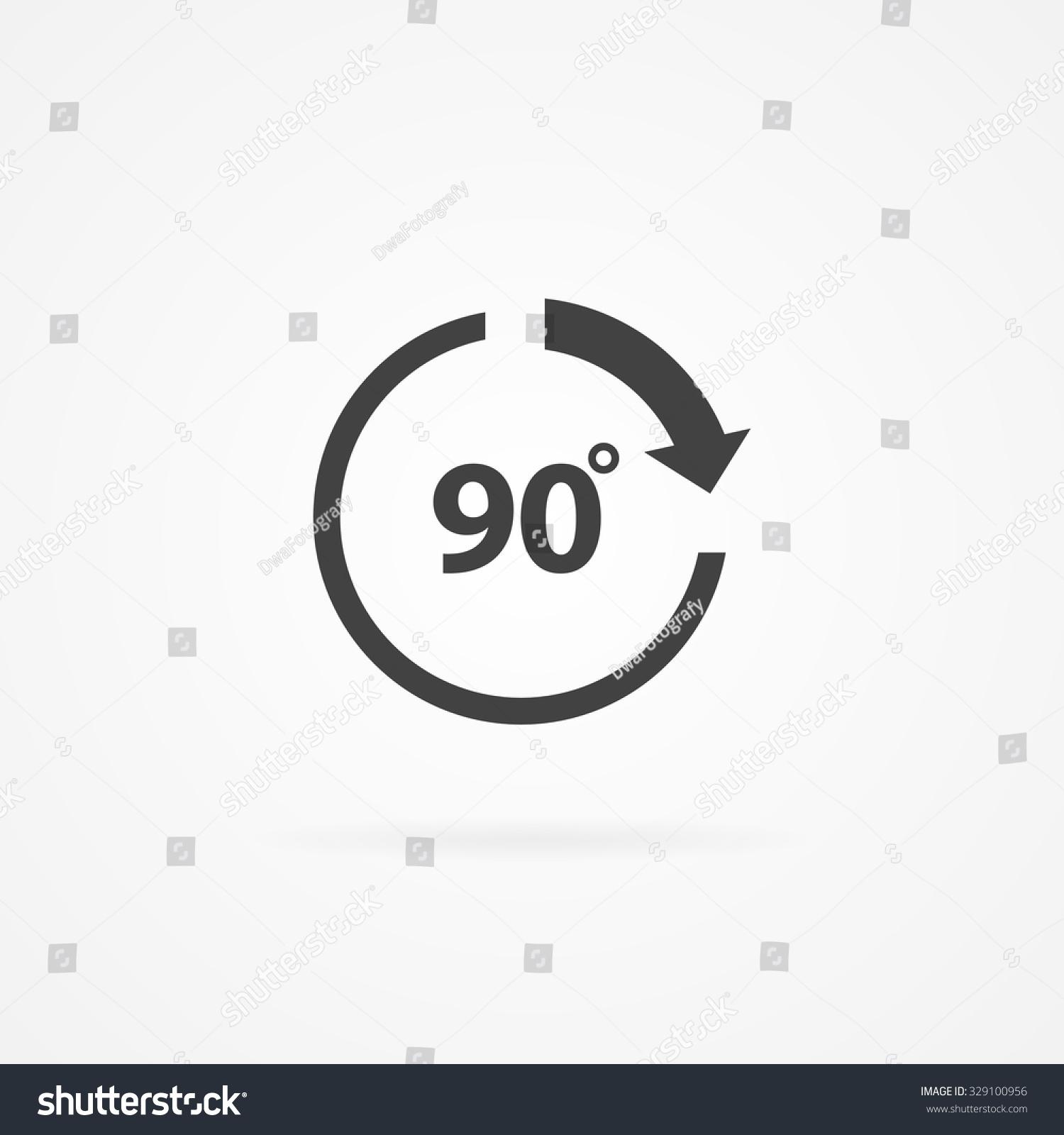 Circle Arrow 90 Degree Text Inside Stock Vector Royalty Free