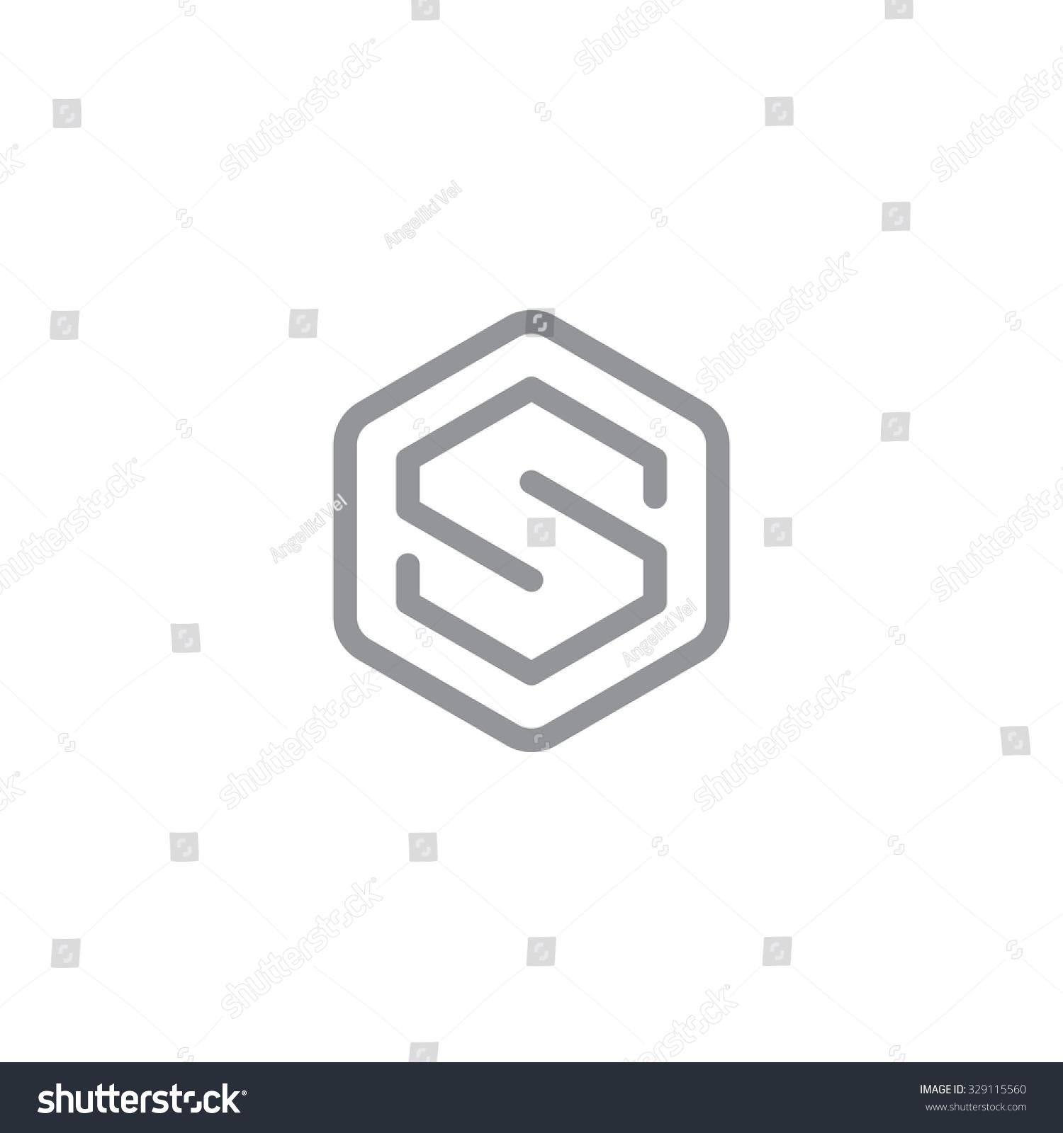 letter s logo symbol vector icon stock vector 329115560