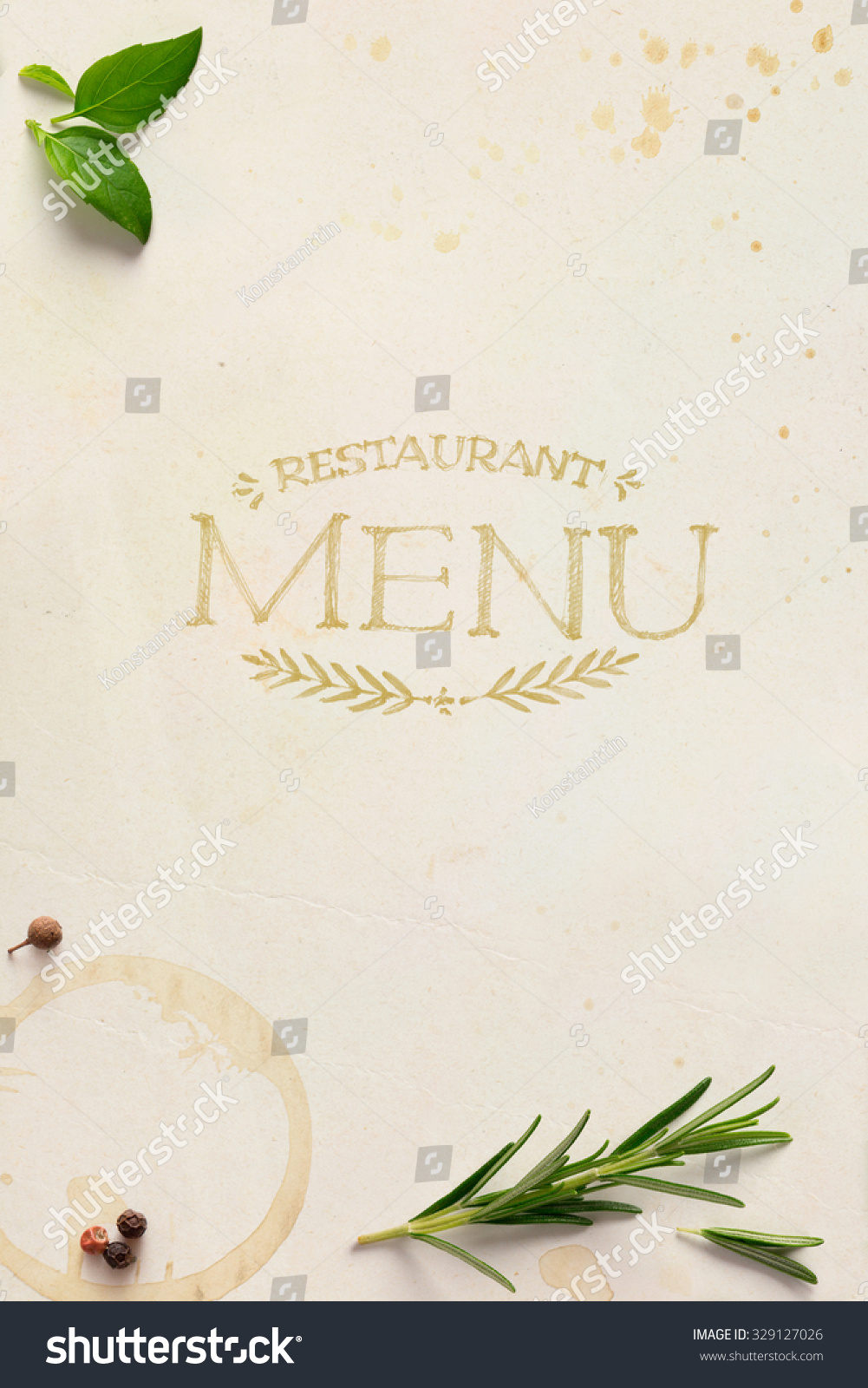 traditional italian home restaurant menu background stock photo
