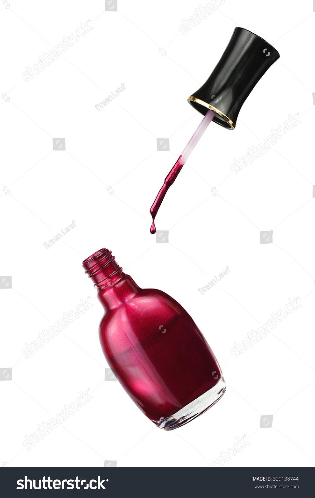 Dark Nail Polish Open Bottle Brush Stock Photo (Royalty Free ...