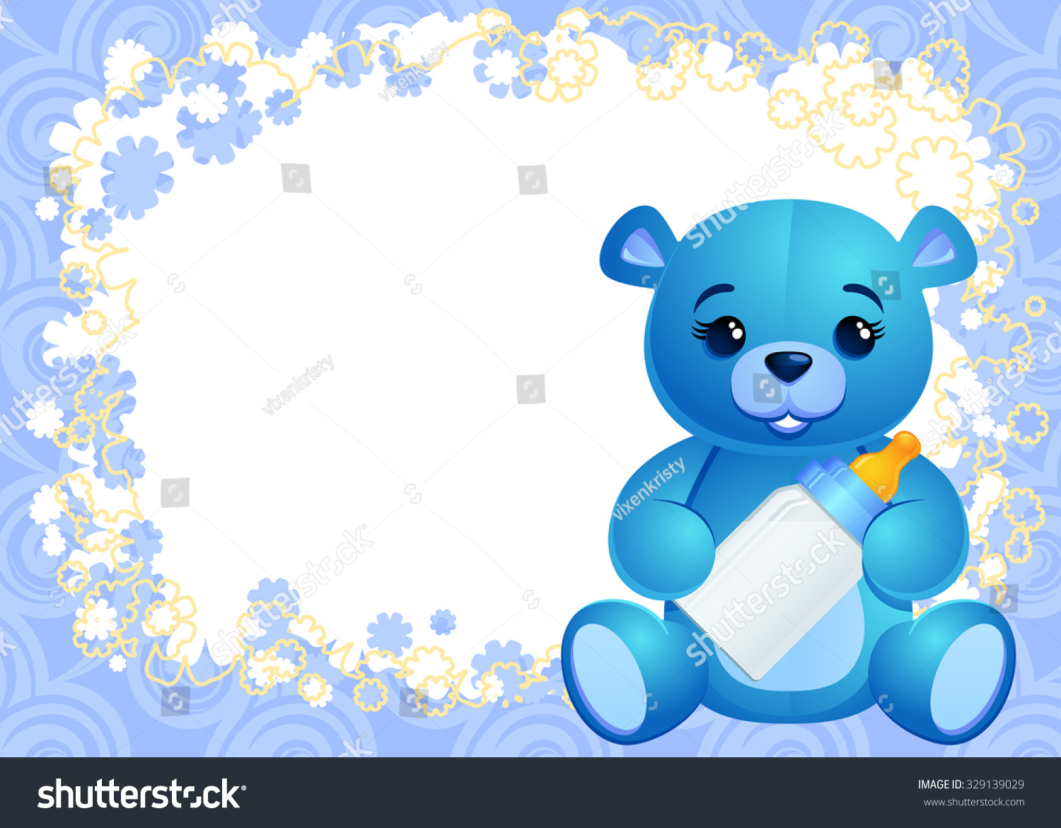Boy Greeting Card Template Baby Boy Stock Vector Royalty Free