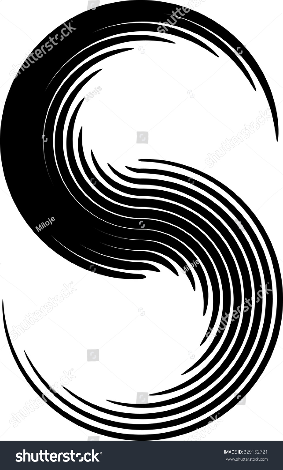 Curved Line Design : Vector curved lines design element black stock