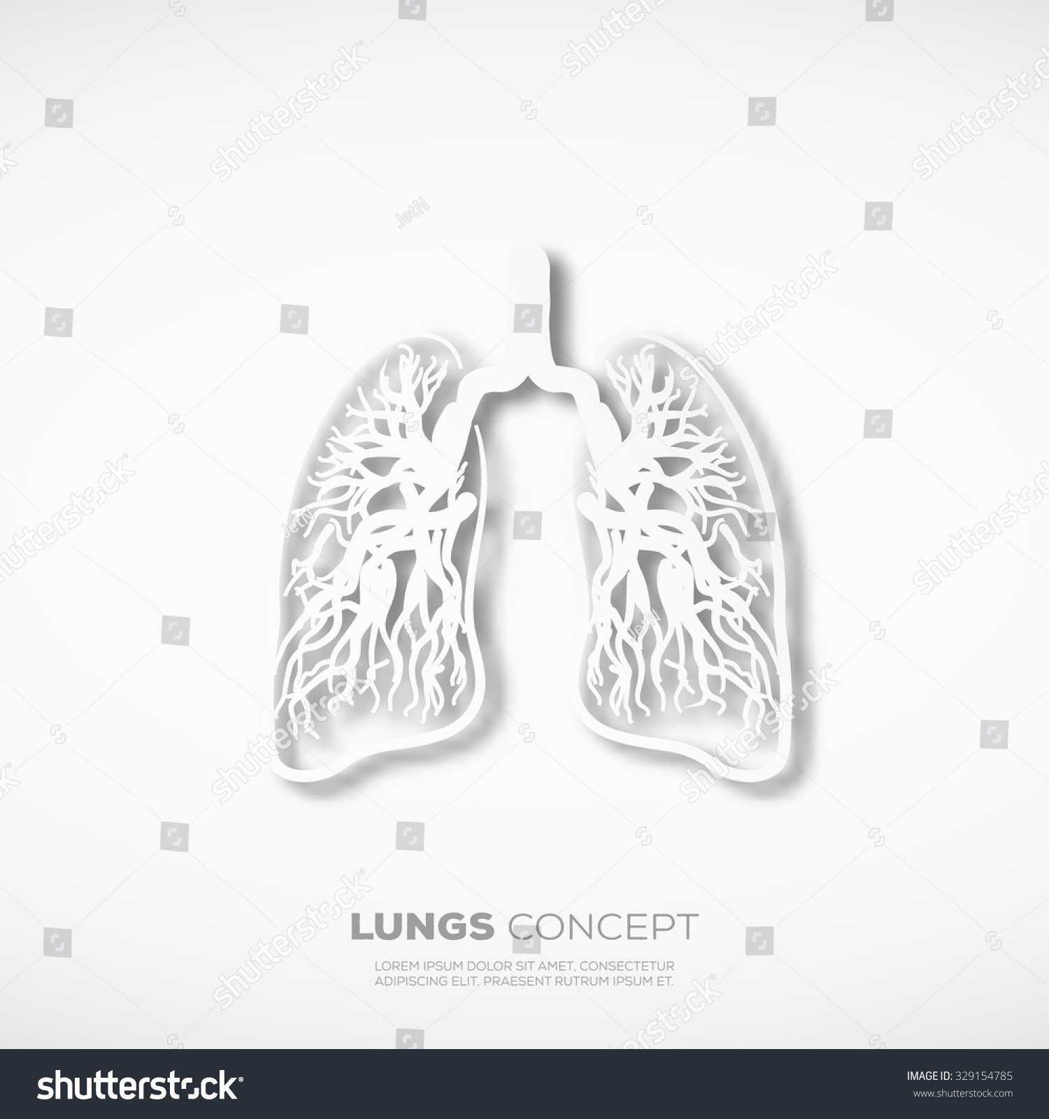outline lungs concept sign template school stock vector 329154785, Presentation templates
