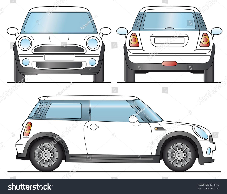 Mini Car Template Layout Presentation Vector Stock Vector 32916160 ...