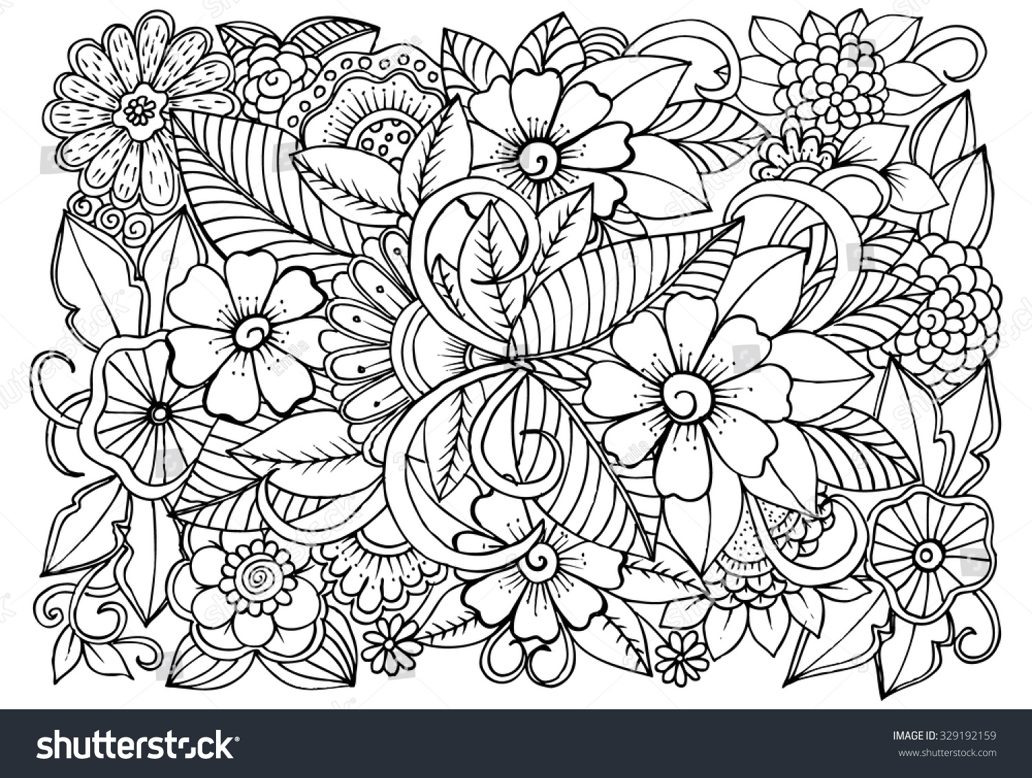 flower coloring pattern - photo #37