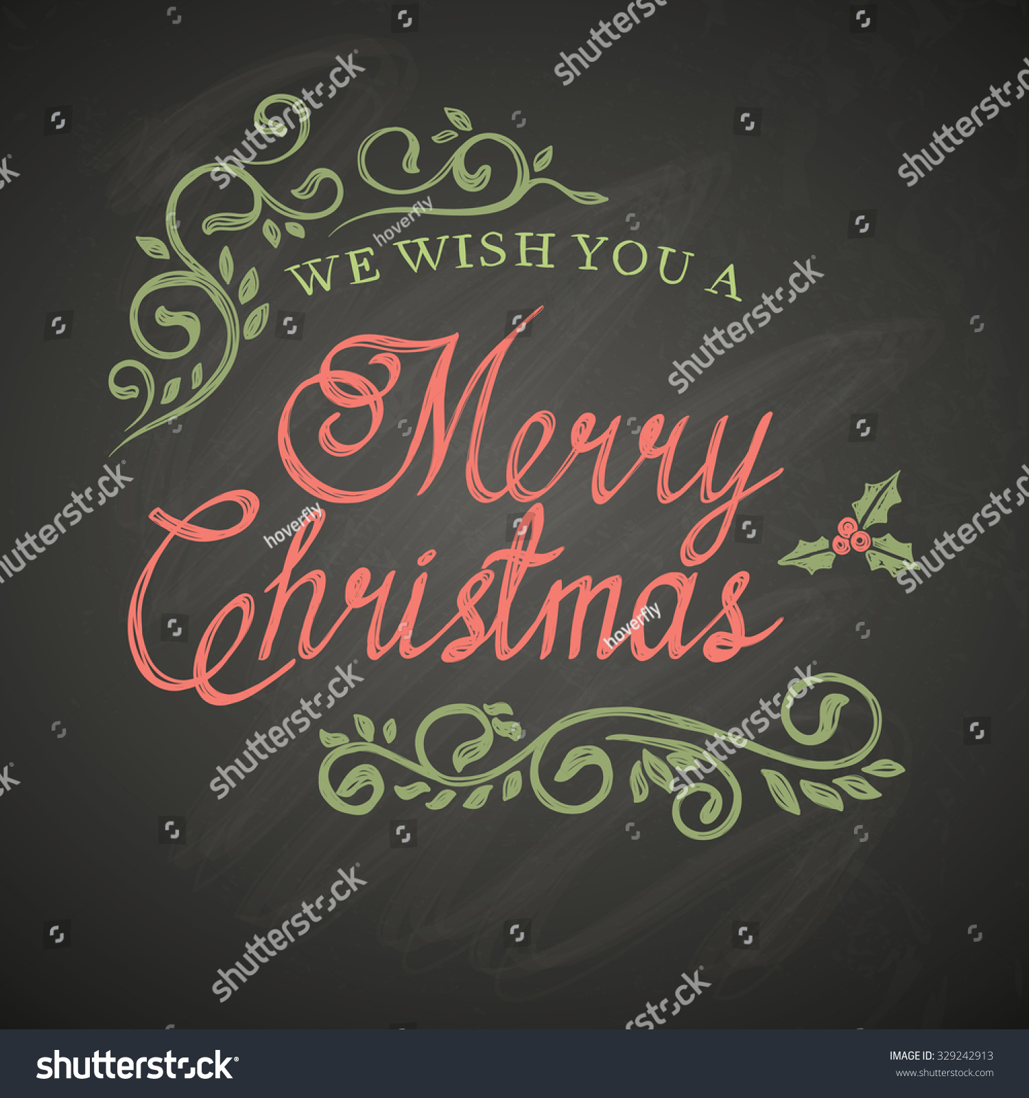 Christmas Board Design.Christmas Lettering Decorative Elements On Black Stock