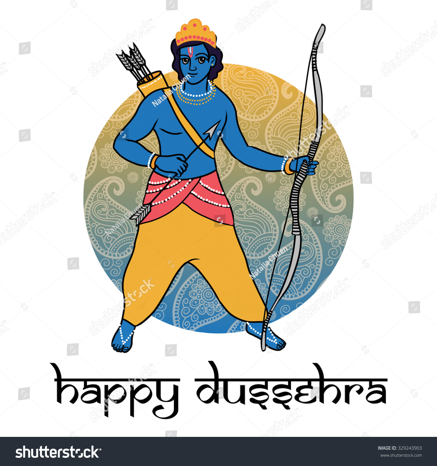 Cartoon vector hindu god rama happy stock vector royalty free cartoon vector hindu god rama happy dussehra greeting card poster banner and m4hsunfo