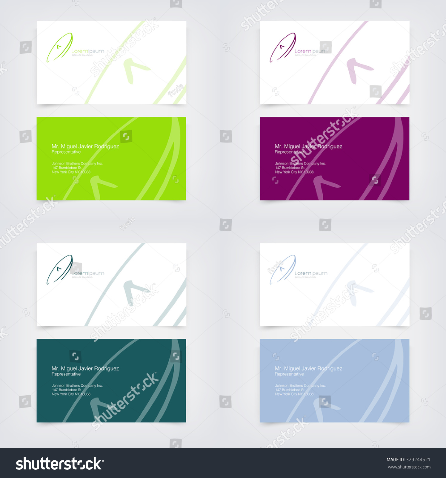 Vector Business Card Design Templates Collection Stock Vector