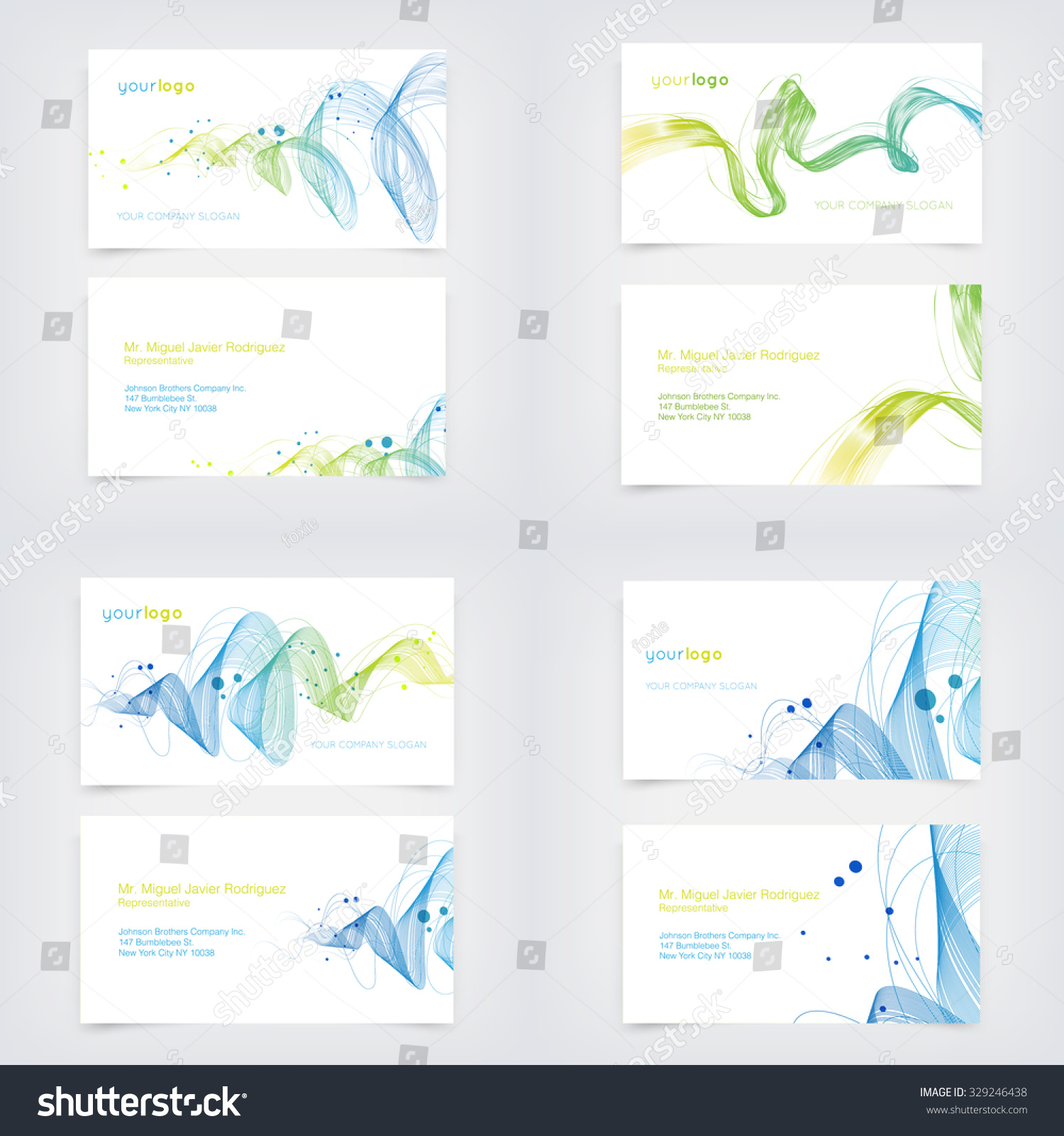 Vector business card design templates collection stock vector vector business card design templates collection with dynamic curly wave backgrounds reheart Gallery