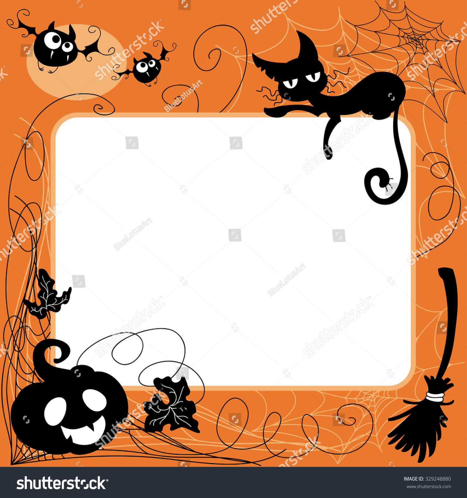 halloween invitation greeting card template cartoon stock