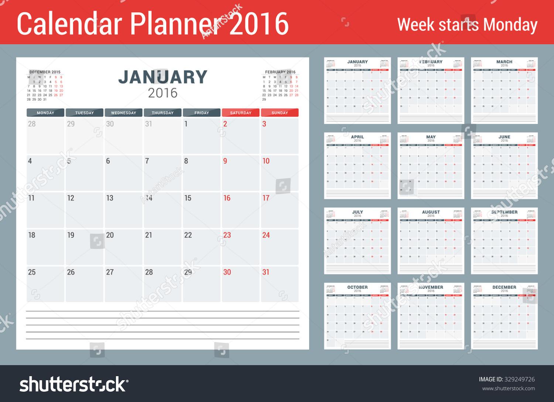 Calendar Planner Vector : Calendar planner year vector stationery stock