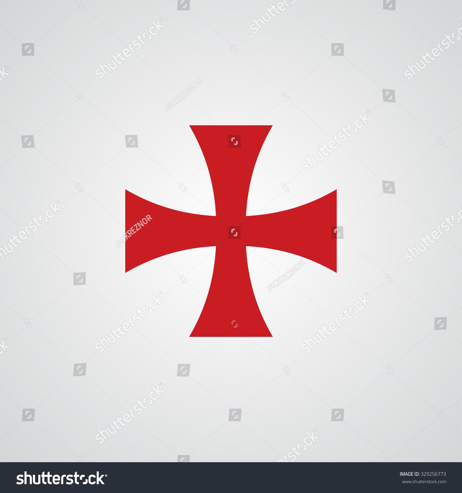 Knight Templar Cross Symbol Stock Vector Royalty Free 329256773