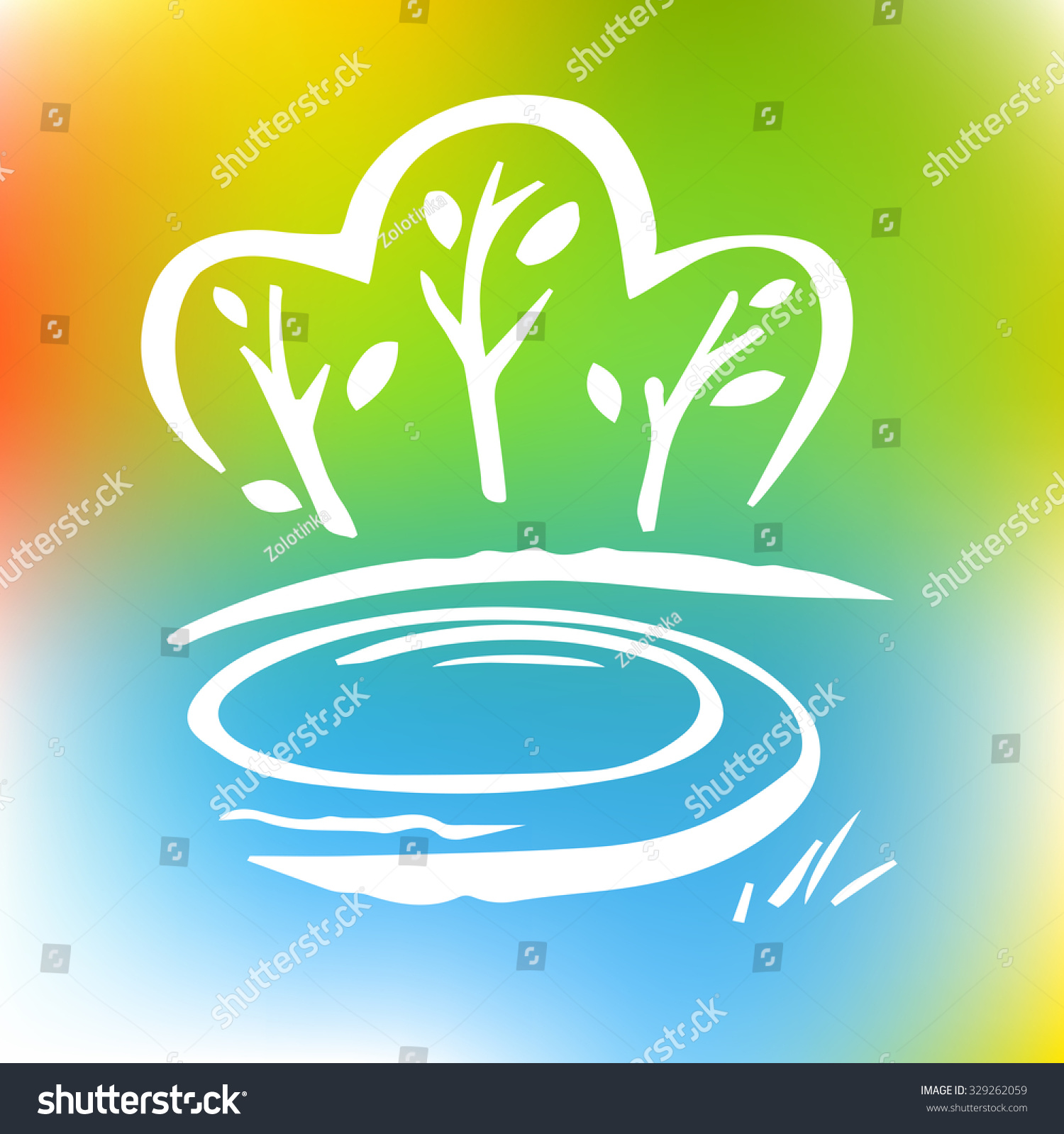 Logo Image Trees Forests Environment Nature Stock Illustration