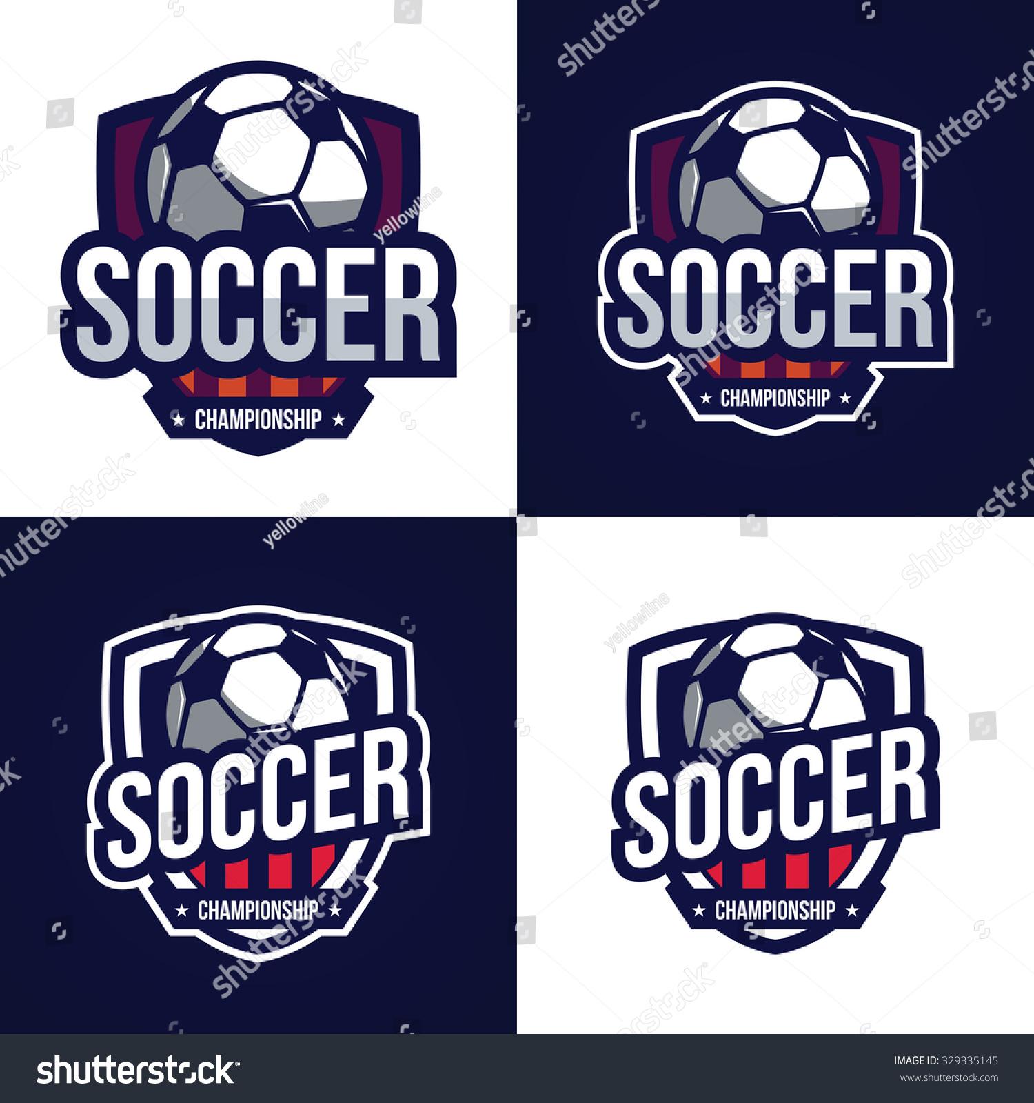 Soccer logos american logo sport stock vector illustration 329335145