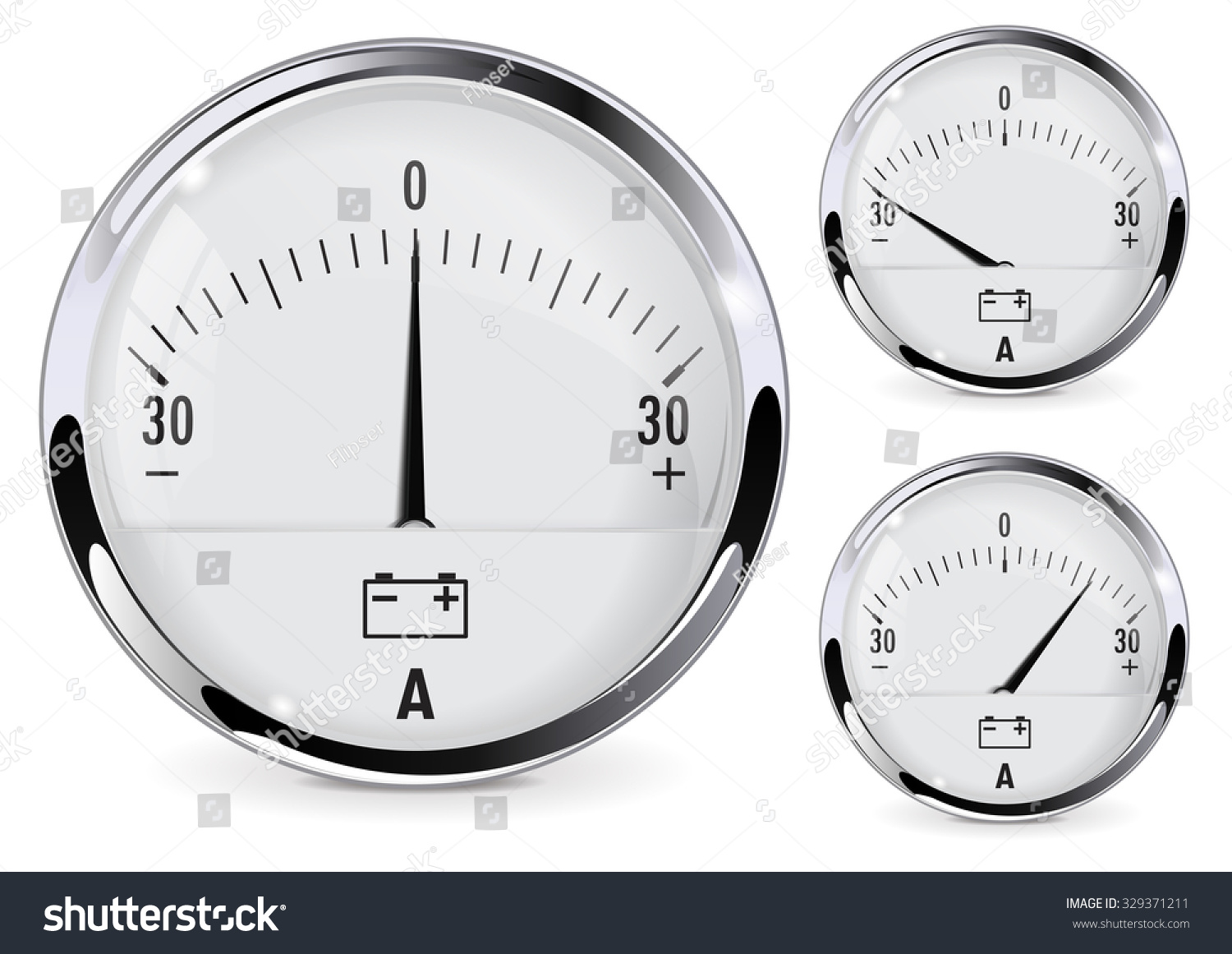 Ammeter Clip Art : Ammeter for car dashboard illustration isolated on white