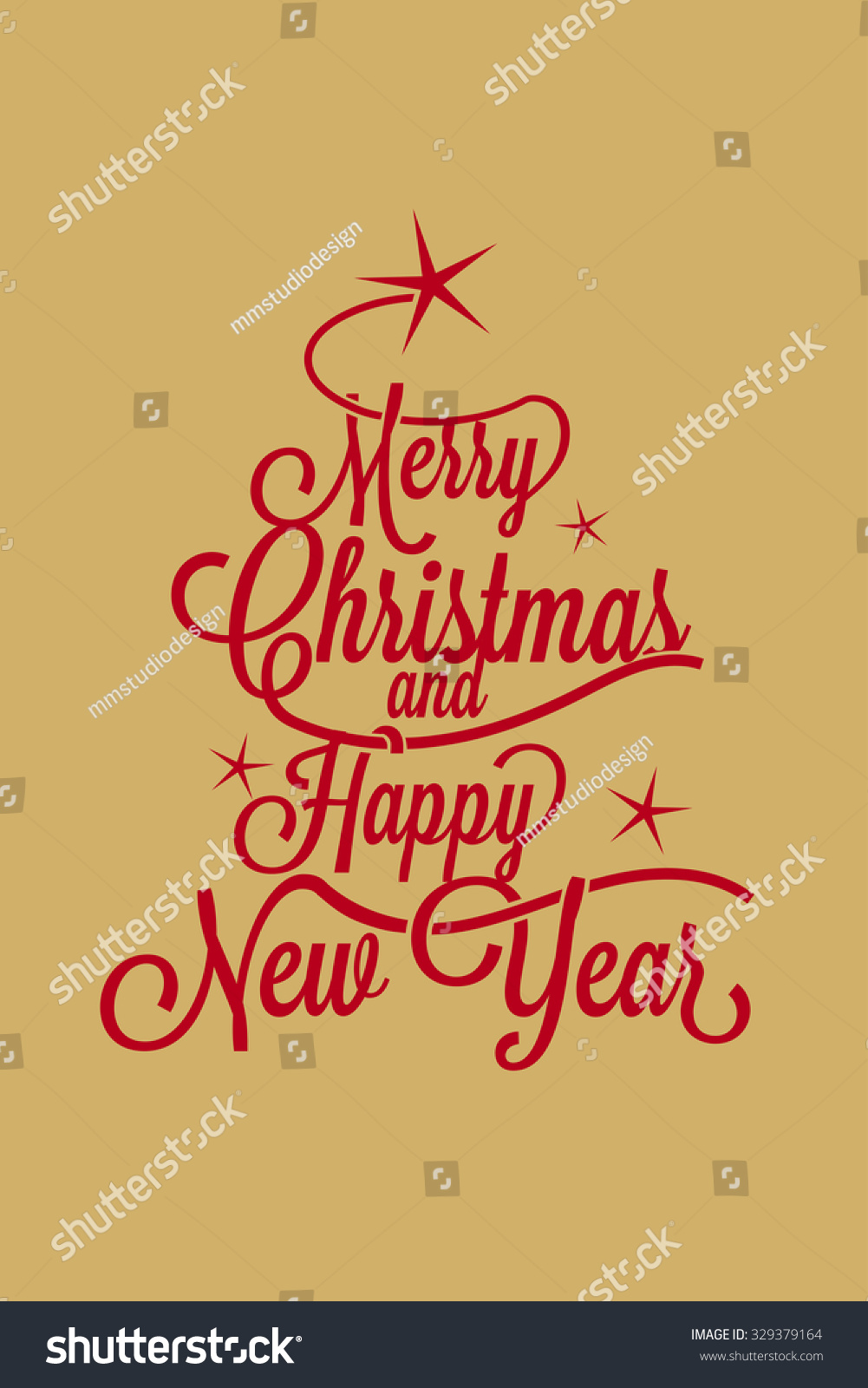 Merry christmas happy new year greetings stock vector royalty free merry christmas and happy new year greetings postcard with calligraphic text m4hsunfo