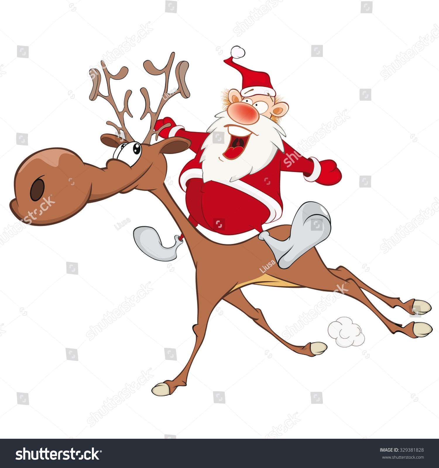 Cute cartoon christmas santa - photo#49