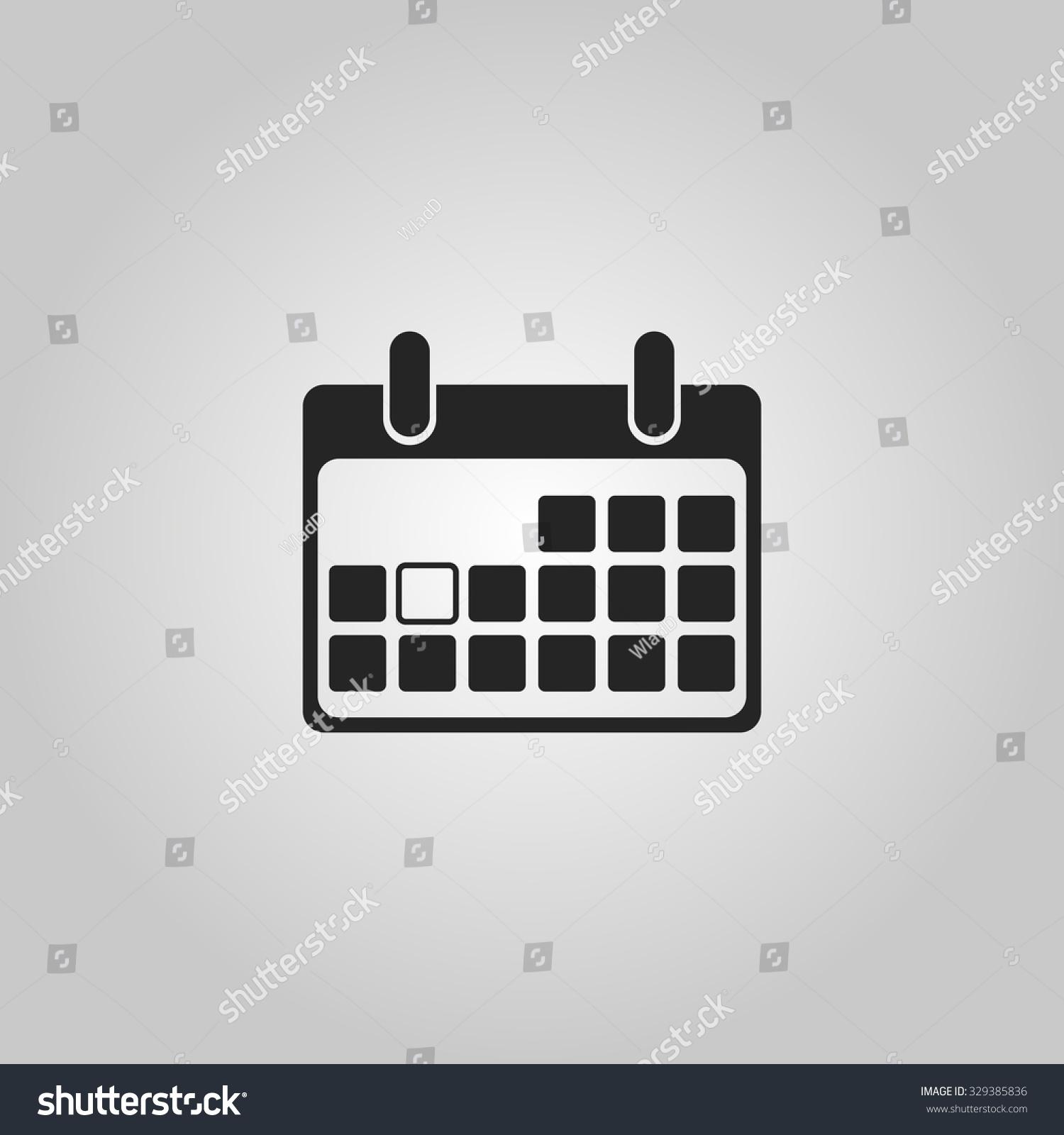 Blank Calendar Icon Green : Icon blank calendar page stock vector