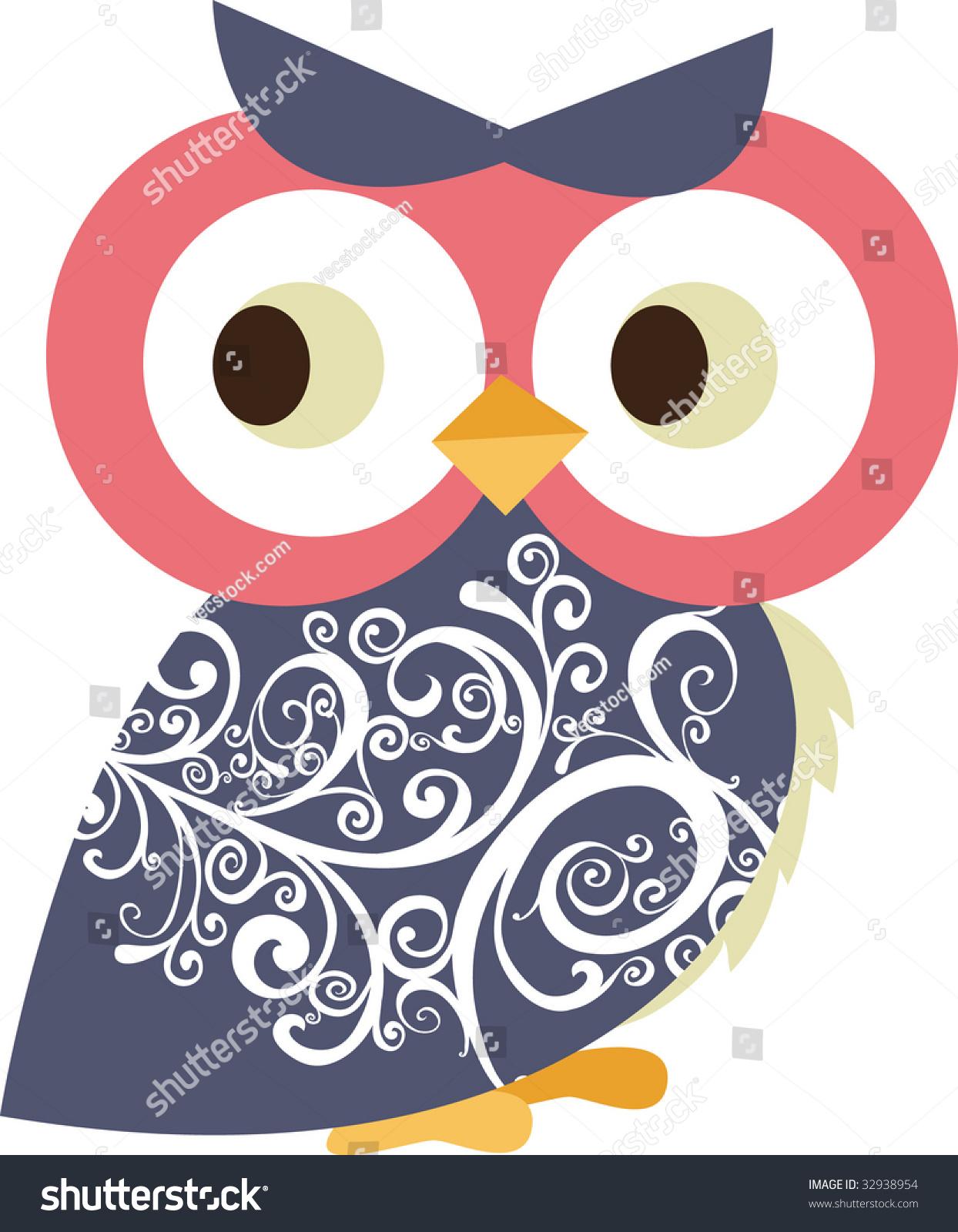 cute little owl character design stock vector 32938954 - shutterstock