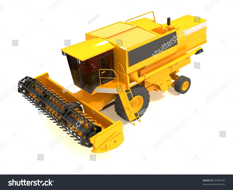 Yellow Combine-Harvester Stock Photo 32940790 : Shutterstock